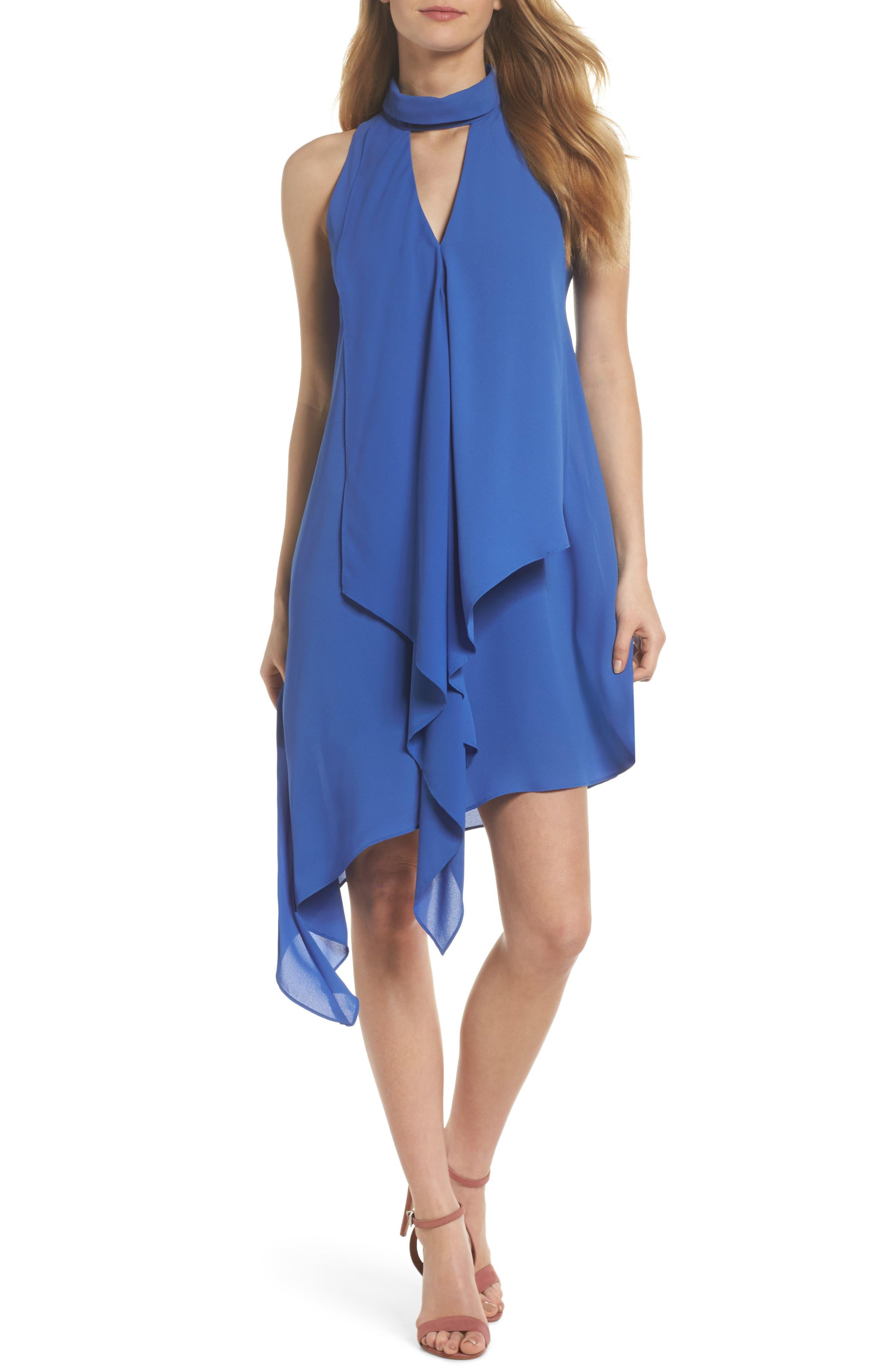 Asymmetric Hem Shift Dress,                             Main thumbnail 1, color,