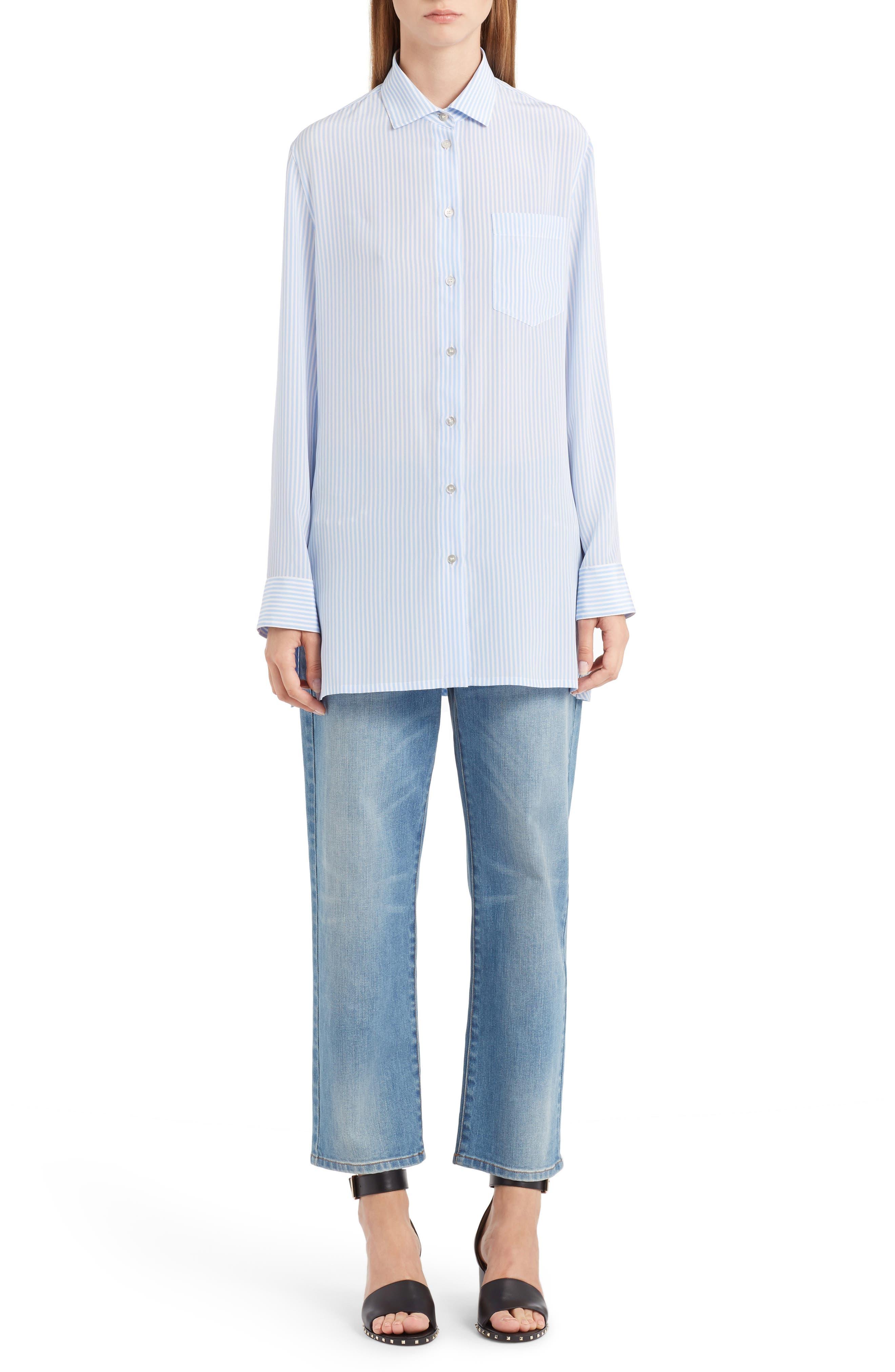 Rockstud Boyfriend Jeans,                             Alternate thumbnail 2, color,                             BLUE