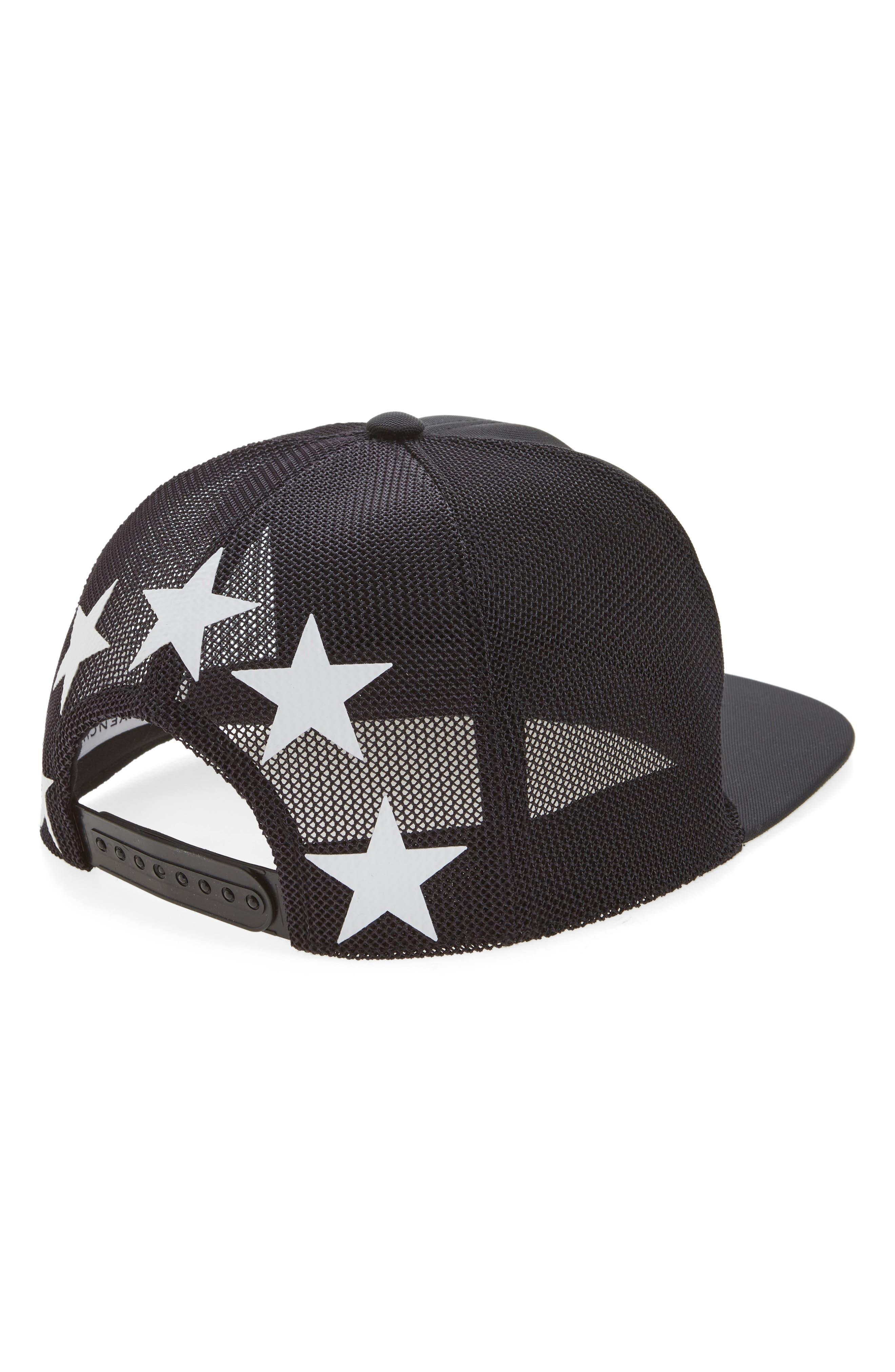 Stars Mesh & Canvas Baseball Cap,                             Alternate thumbnail 2, color,                             001