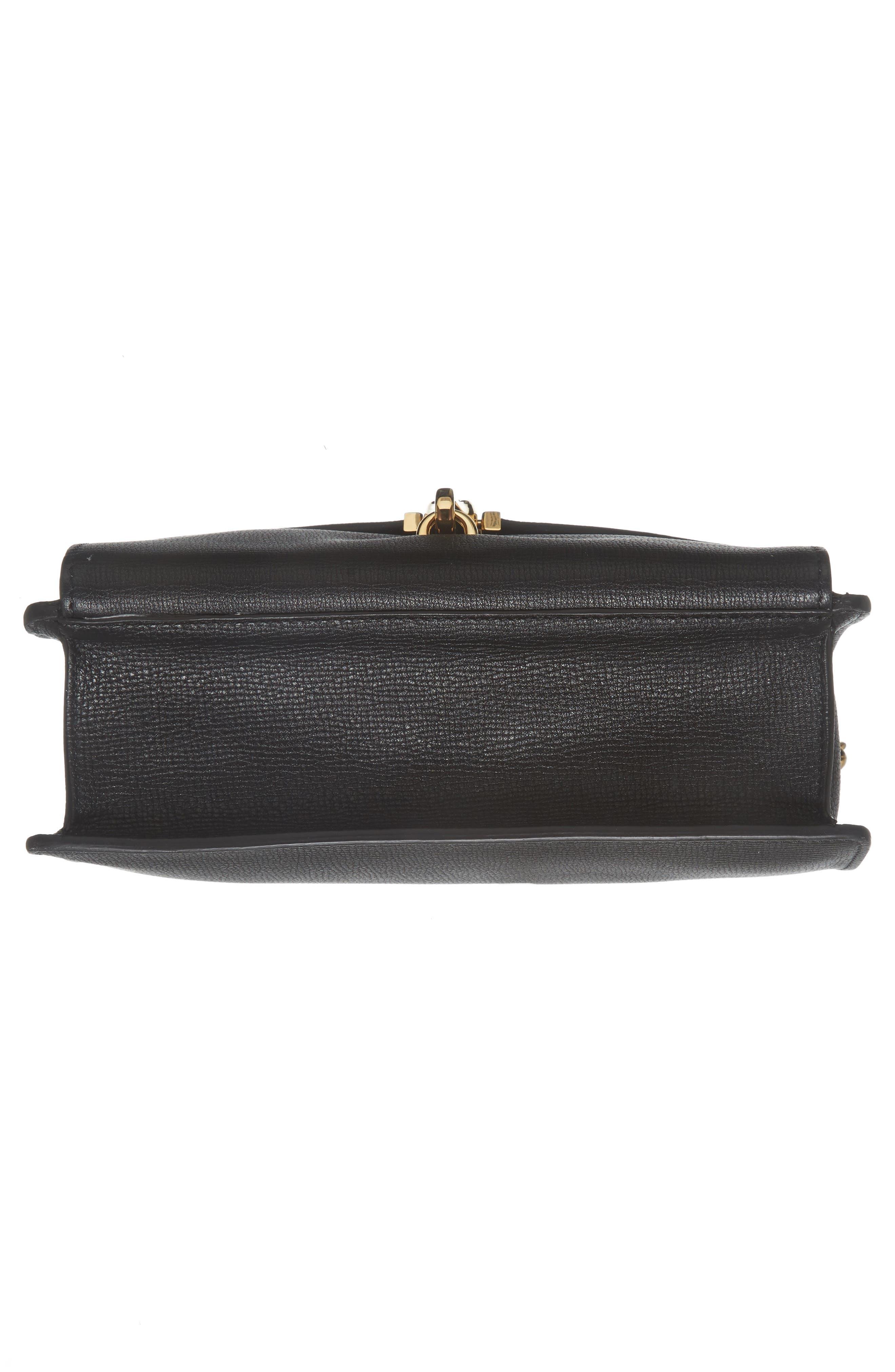 Macken Leather Crossbody Bag,                             Alternate thumbnail 6, color,                             001