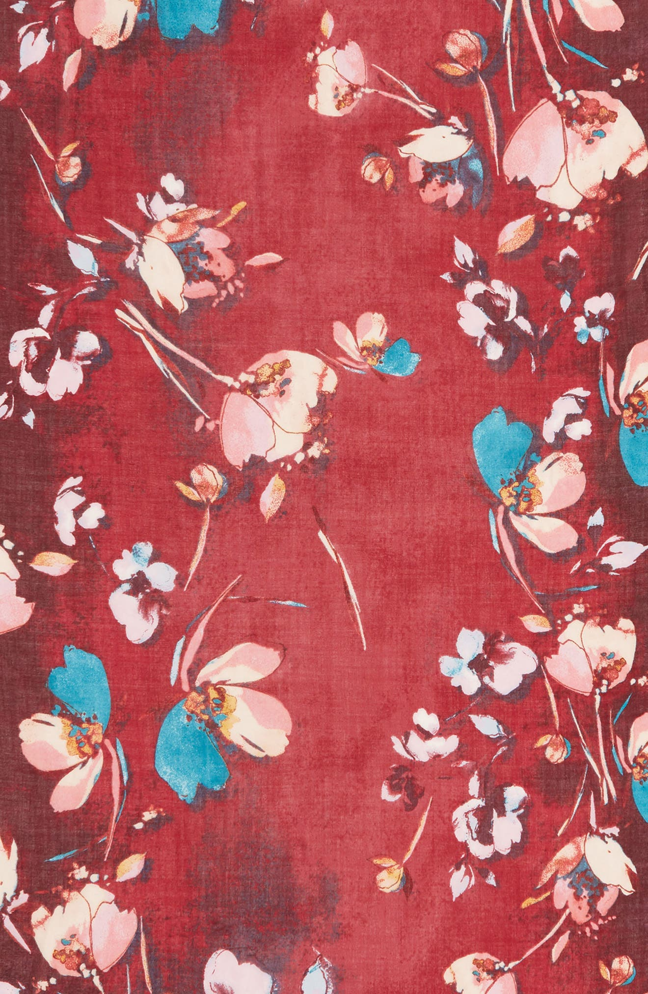 Eyelash Trim Print Cashmere & Silk Wrap,                             Alternate thumbnail 130, color,