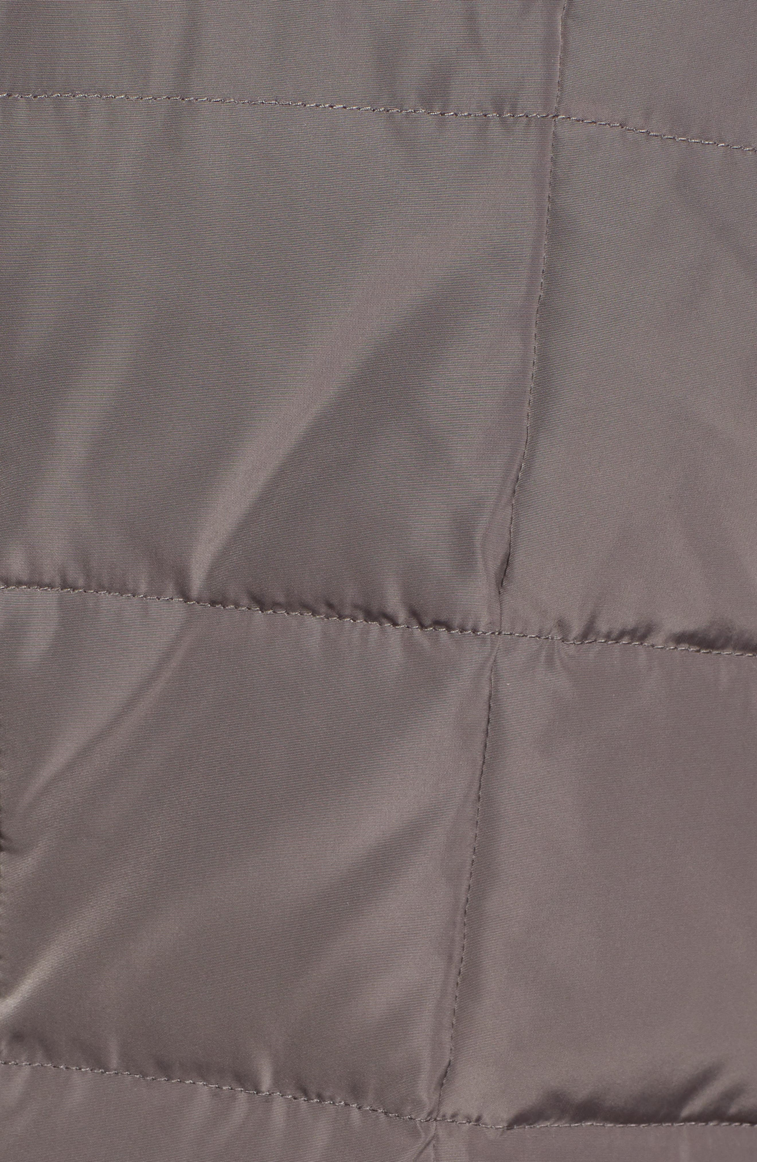 Cole Haan Hooded Down & Feather Jacket,                             Alternate thumbnail 7, color,                             CARBON