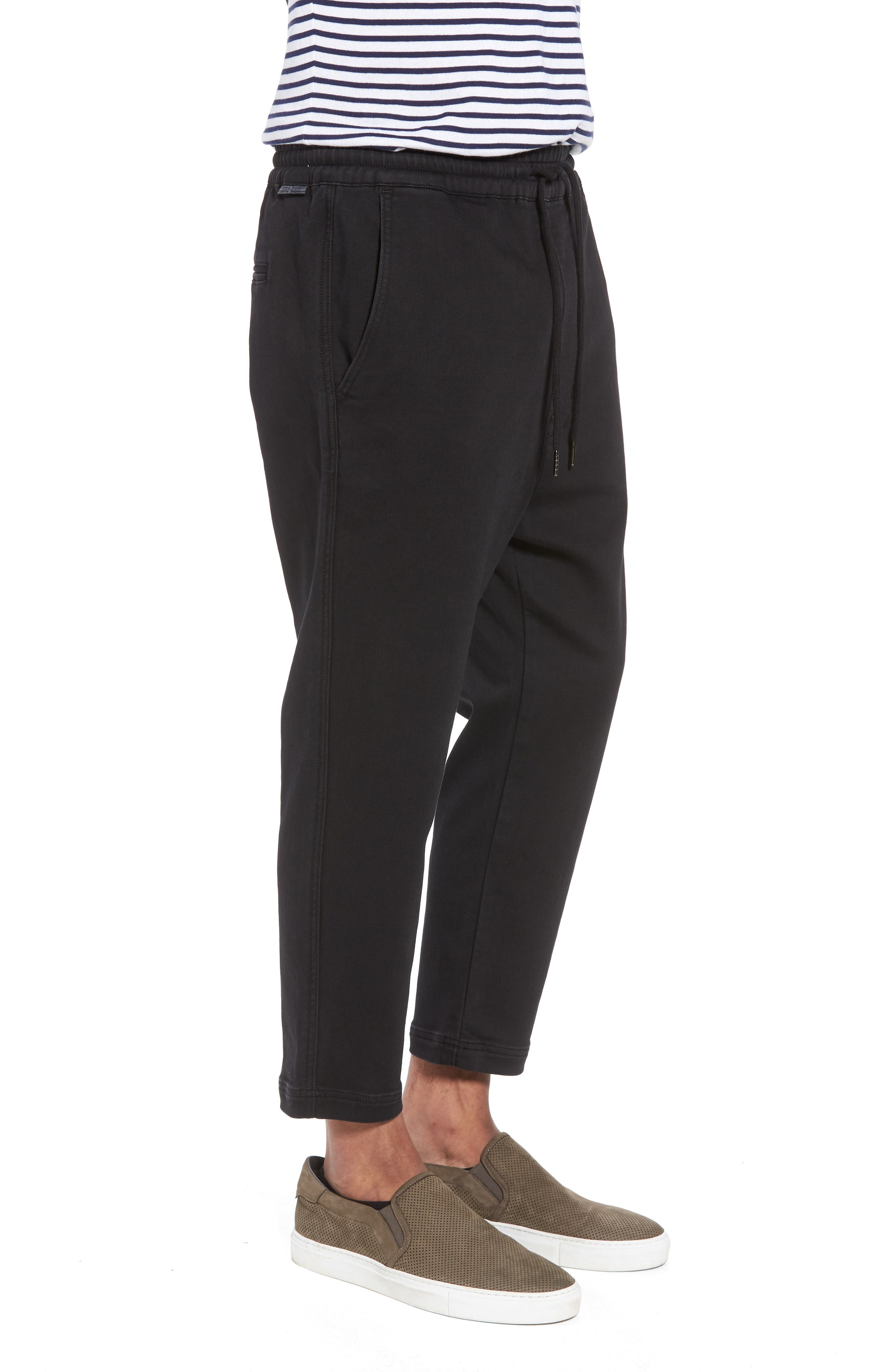 Hudson Leo Drop Crotch Pants,                             Alternate thumbnail 3, color,                             001