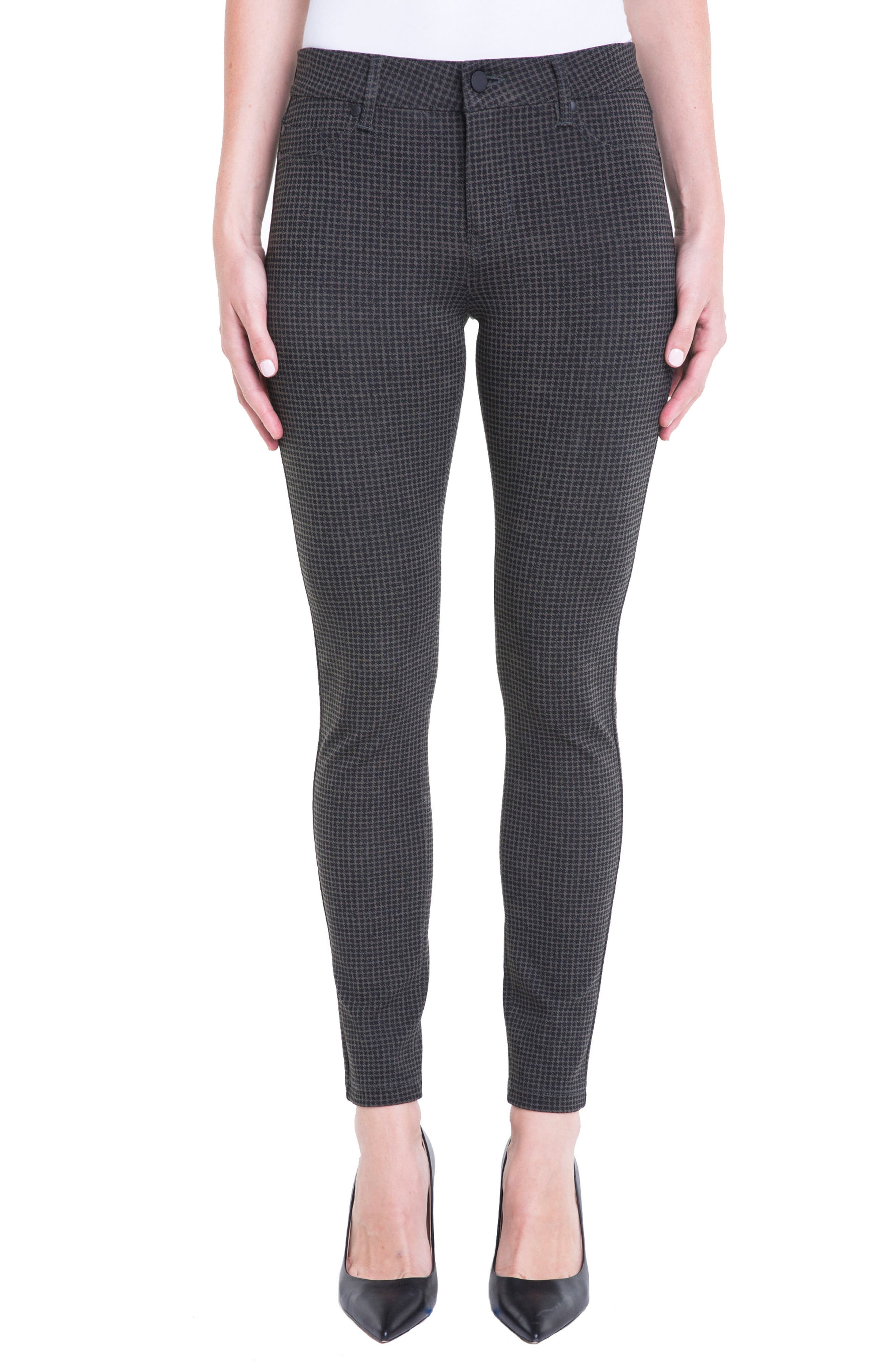 Houndstooth Super Skinny Ponte Knit Pants,                             Main thumbnail 1, color,                             308