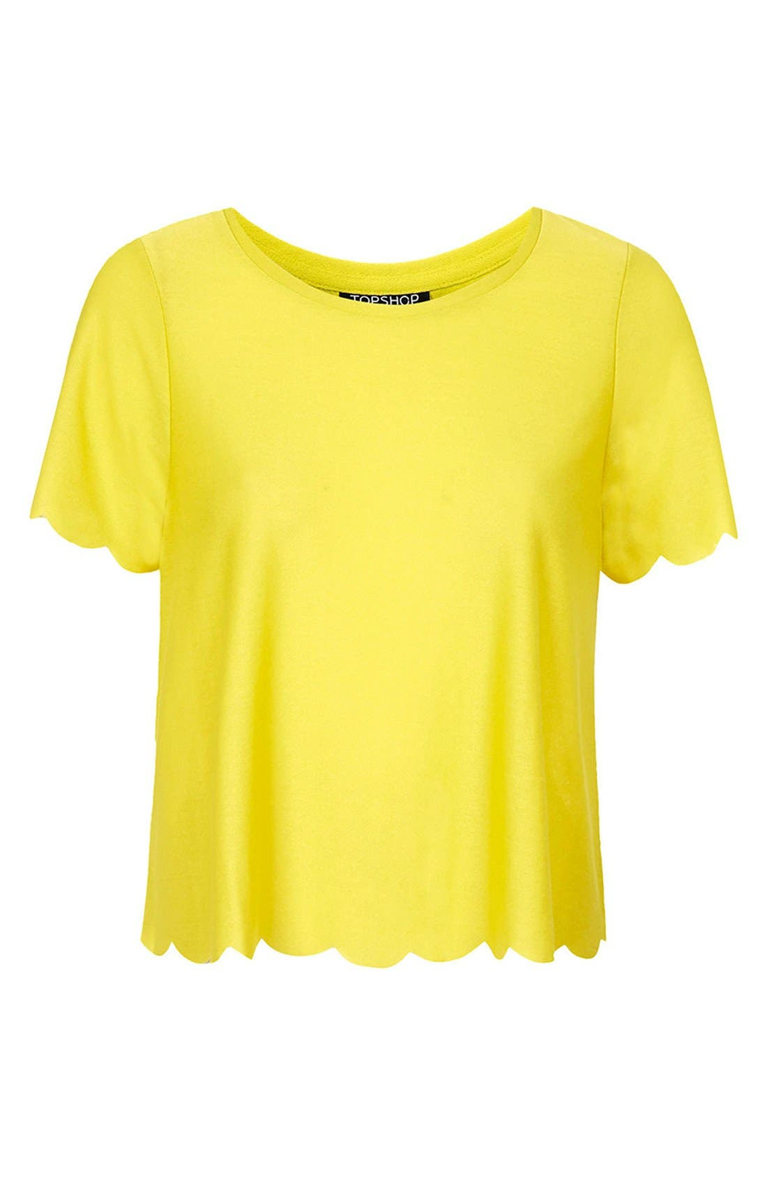 Scallop Frill Tee,                             Alternate thumbnail 18, color,