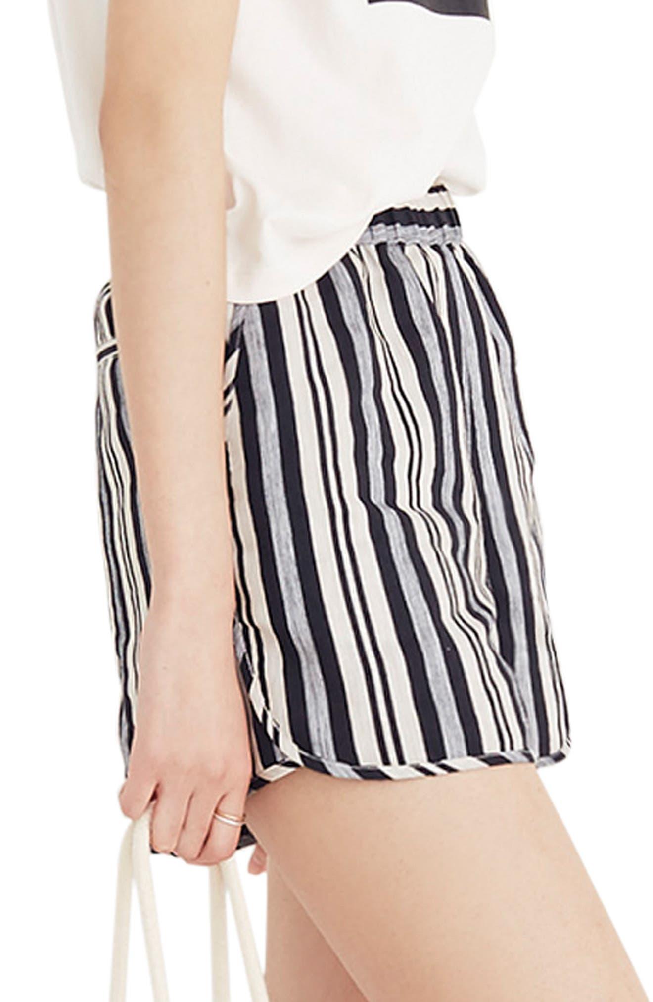 Stripe Pull-On Shorts,                             Alternate thumbnail 3, color,                             STONE