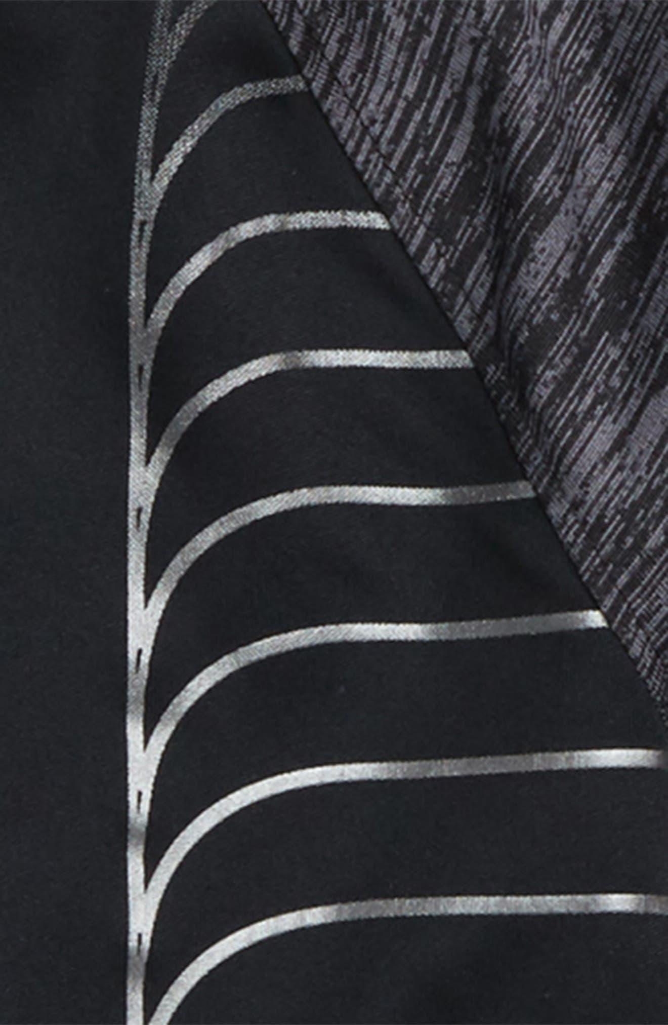 Twist Raglan Hoodie,                             Alternate thumbnail 2, color,                             BLACK