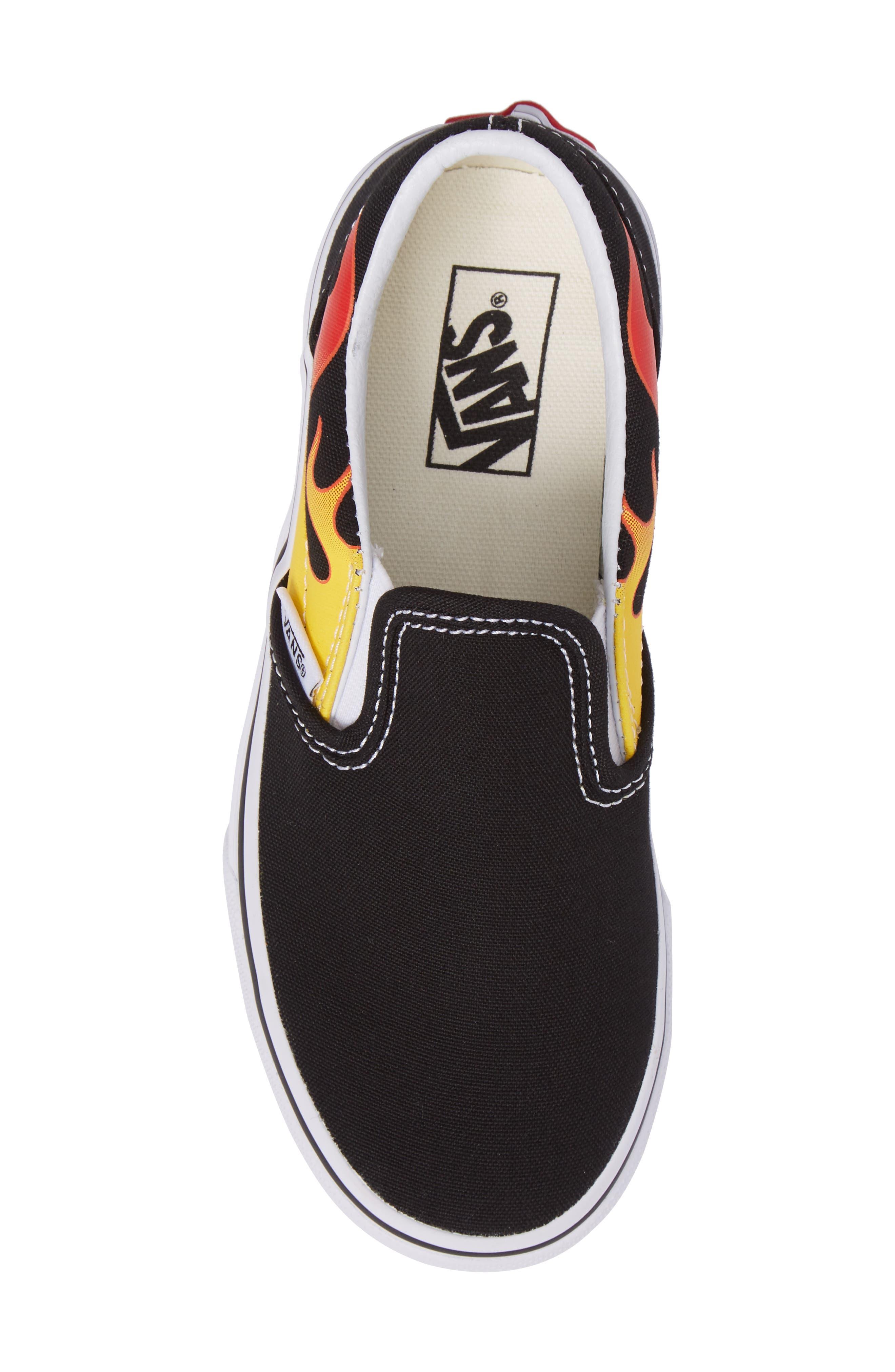 Flame Classic Slip-On Sneaker,                             Alternate thumbnail 5, color,                             002