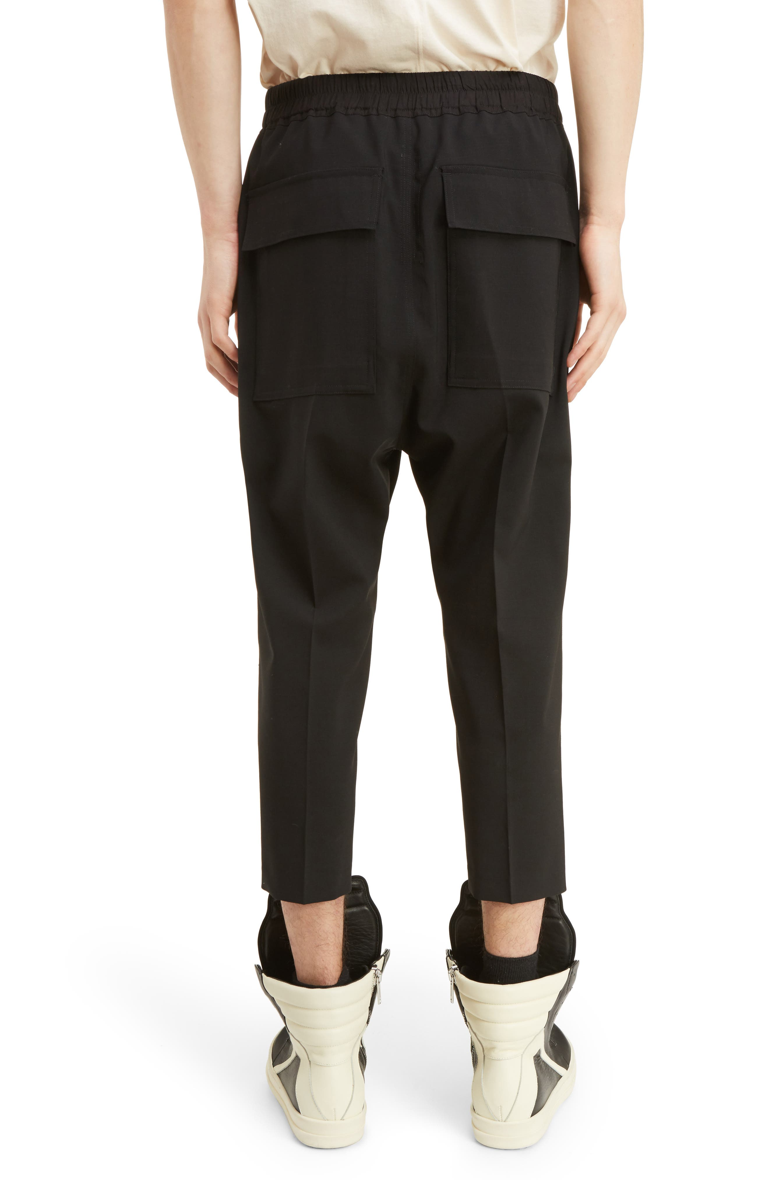 Cropped Wool Blend Pants,                             Alternate thumbnail 2, color,