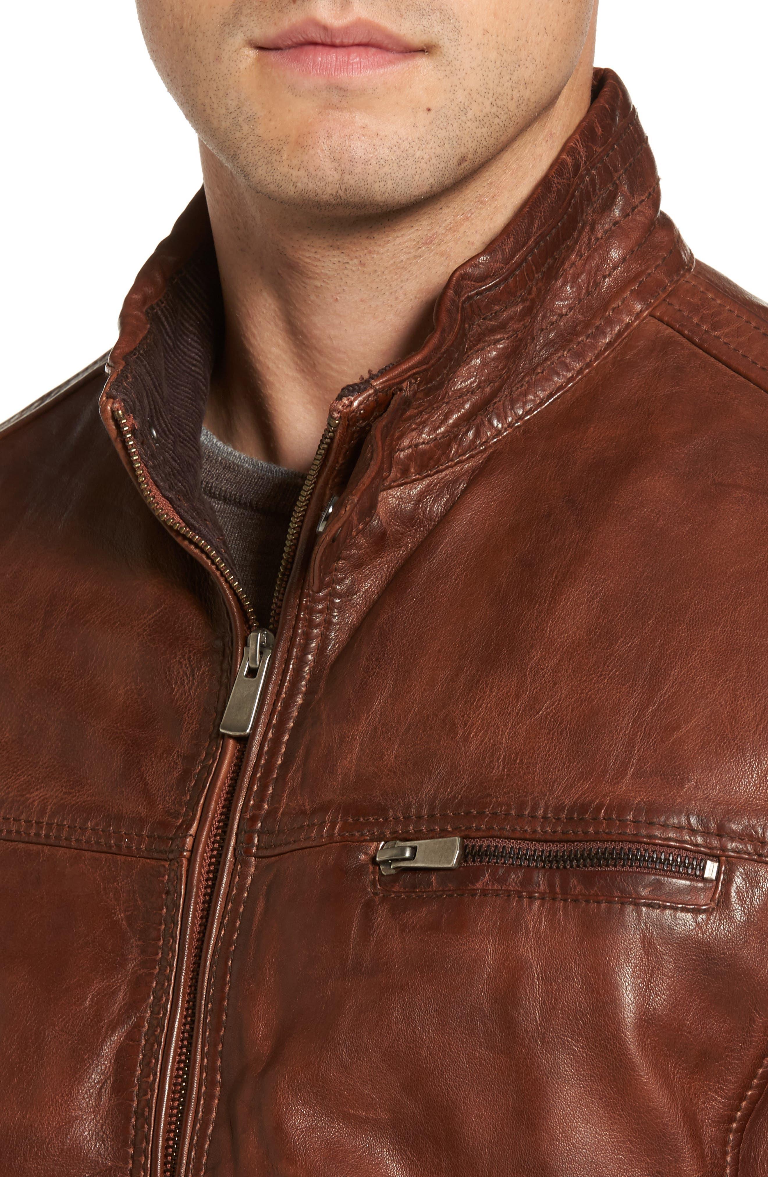 Leather Jacket,                             Alternate thumbnail 4, color,                             210