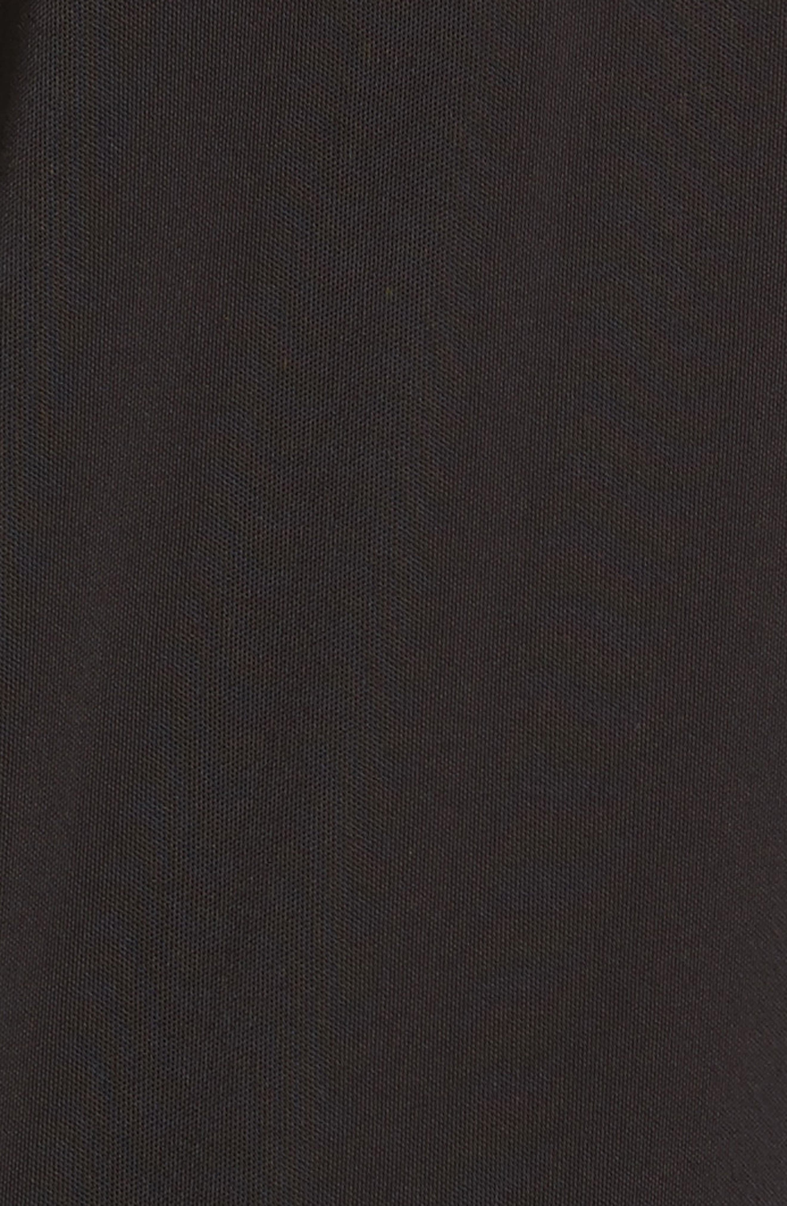 Merino Trim Turtleneck Sweater,                             Alternate thumbnail 5, color,                             001