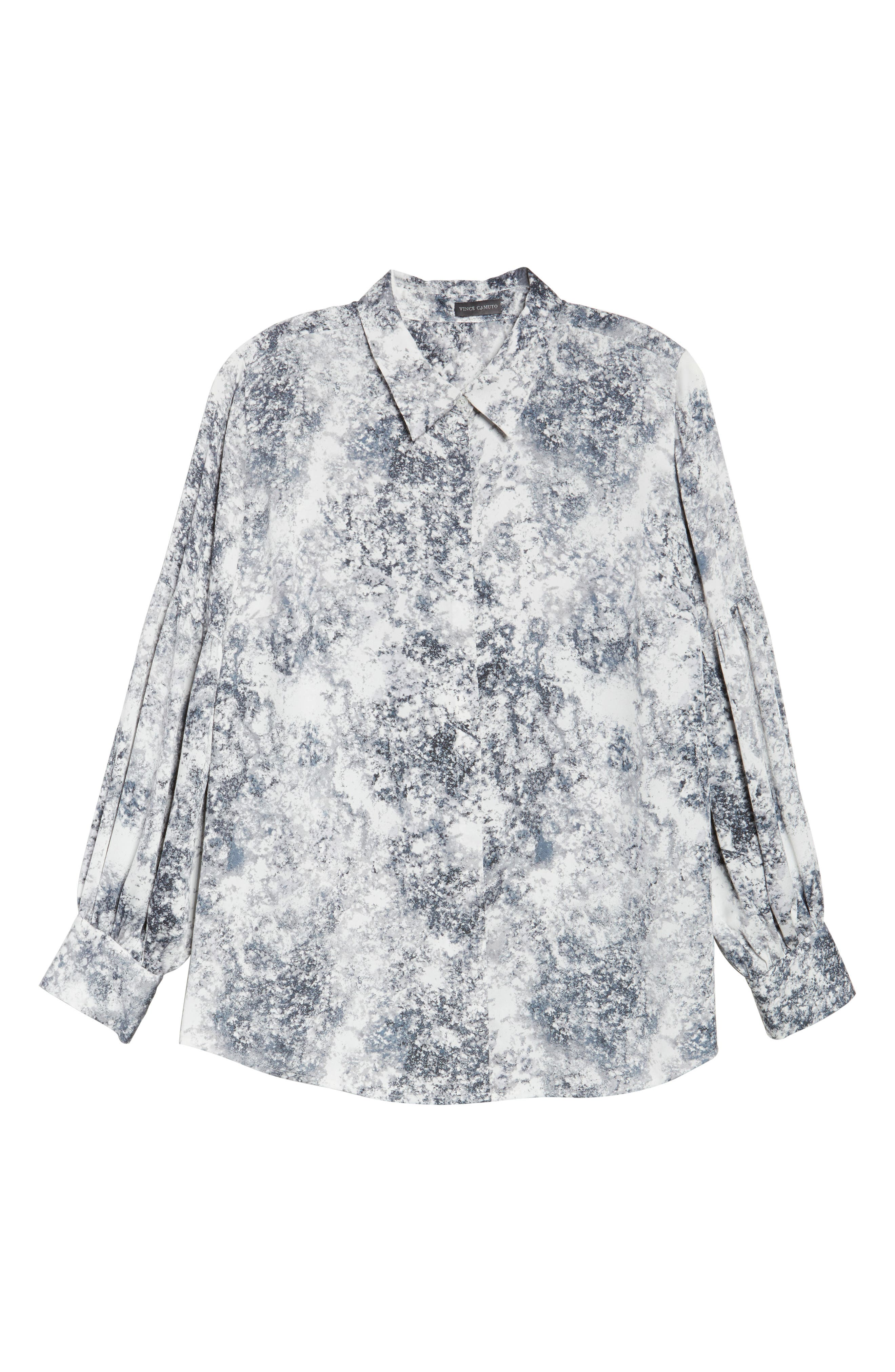 Speckled Print Blouse,                             Alternate thumbnail 6, color,                             108
