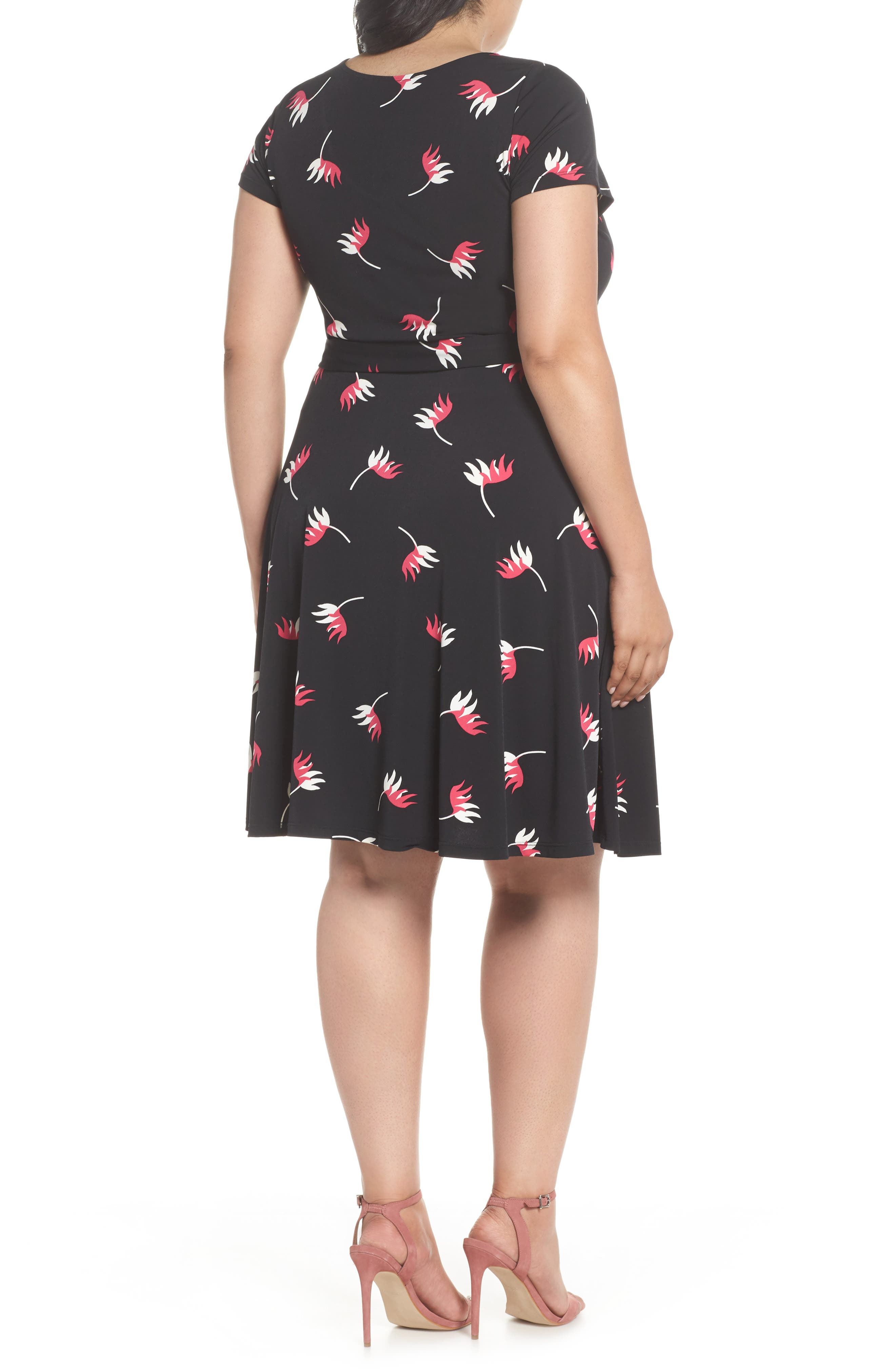 Llana Print Cap Sleeve A-Line Dress,                             Alternate thumbnail 2, color,                             008