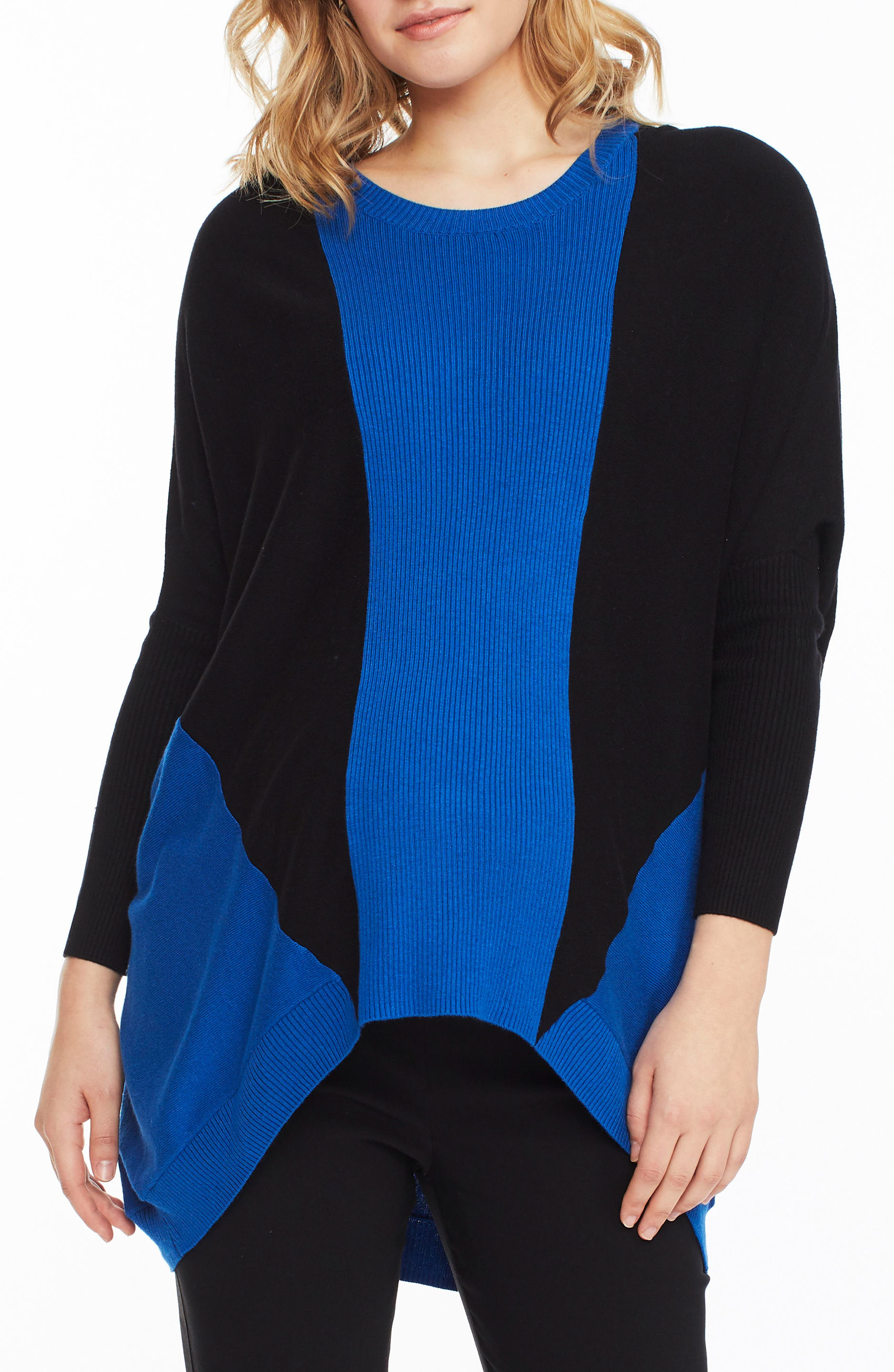 Hazel Colorblock Maternity Sweater,                         Main,                         color, INDIGO / BLACK