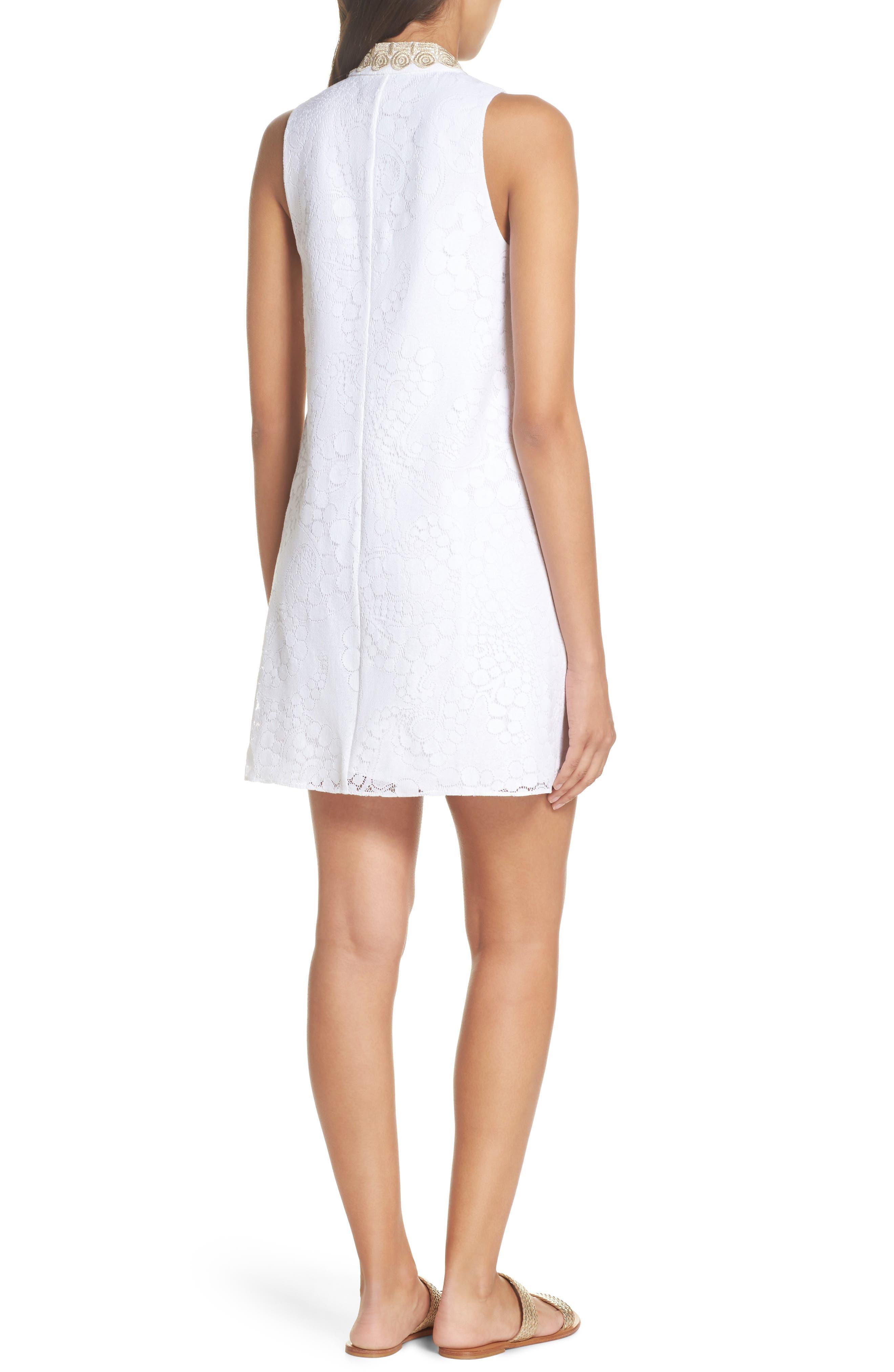 Jane Lace Shift Dress,                             Alternate thumbnail 2, color,                             RESORT WHITE MOCEAN LACE