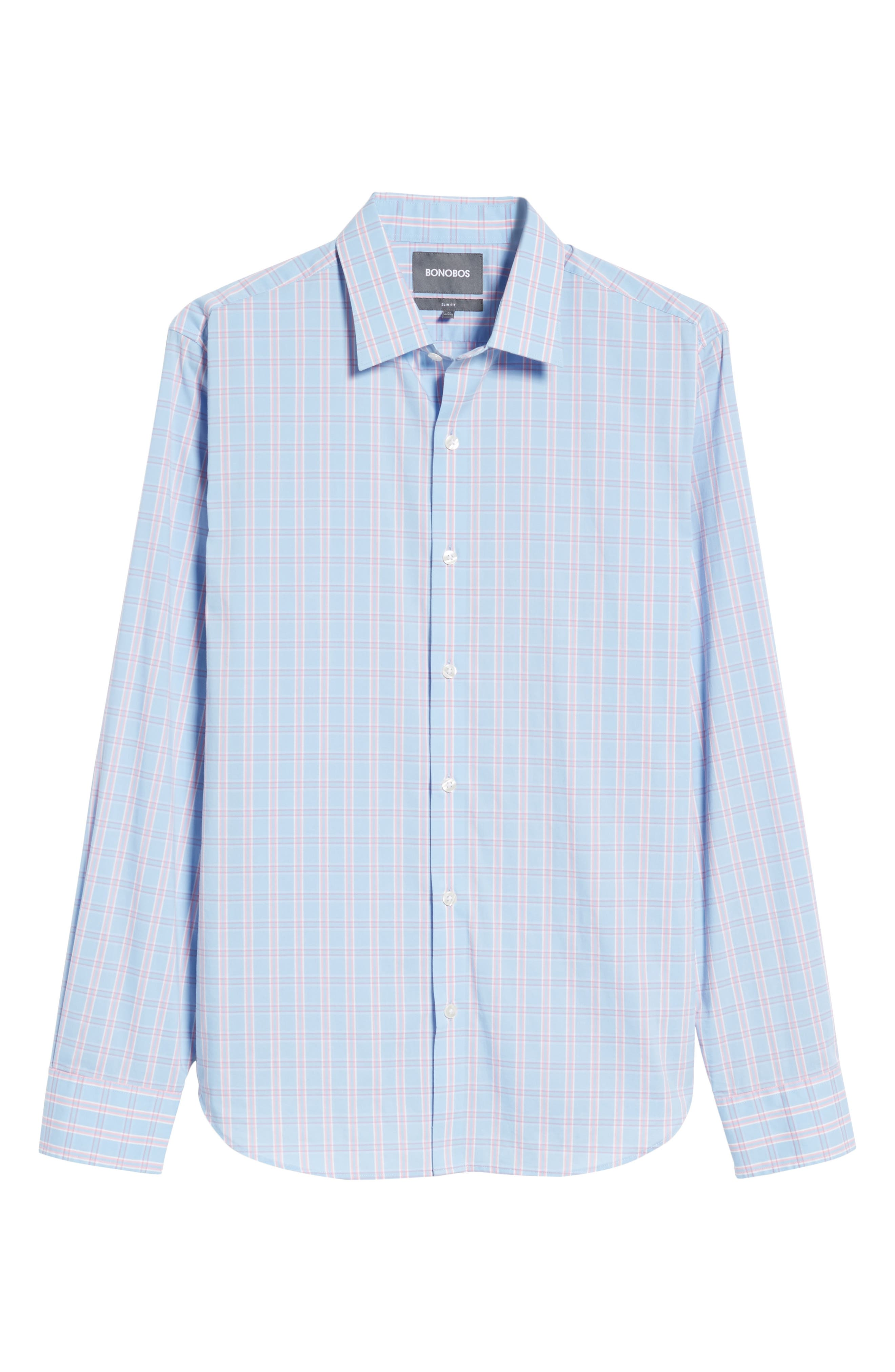 Unbutton Down 2.0 Slim Fit Check Sport Shirt,                             Alternate thumbnail 6, color,