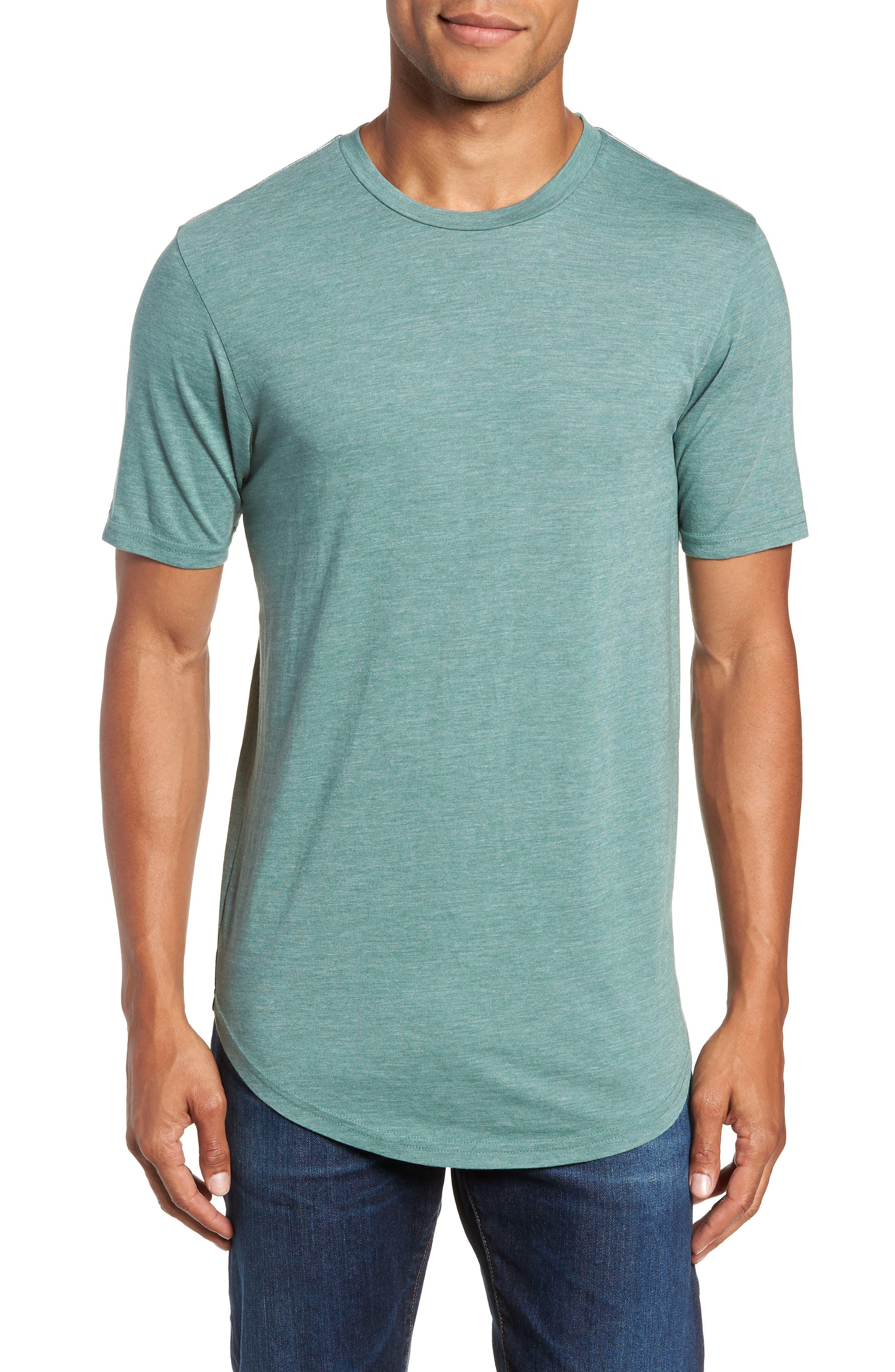 Scallop Triblend Crewneck T-Shirt,                             Main thumbnail 1, color,                             PINE