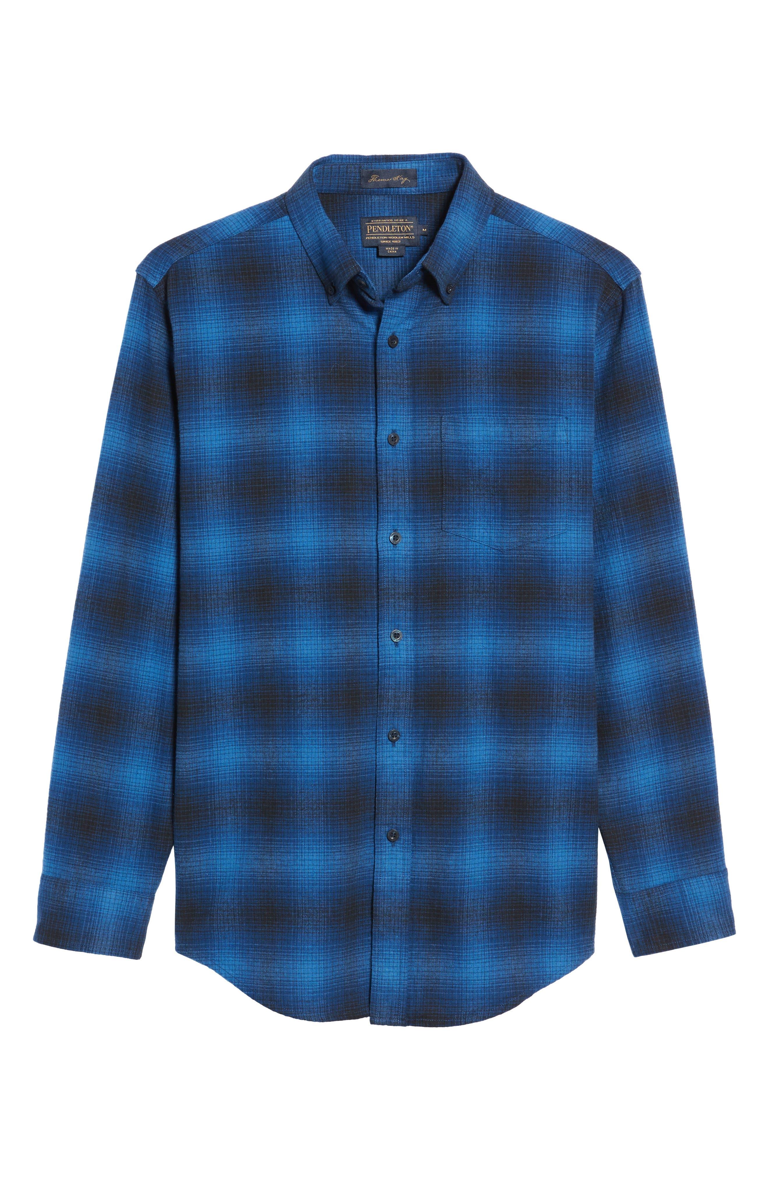 Lister Ombré Plaid Sport Shirt,                             Alternate thumbnail 11, color,