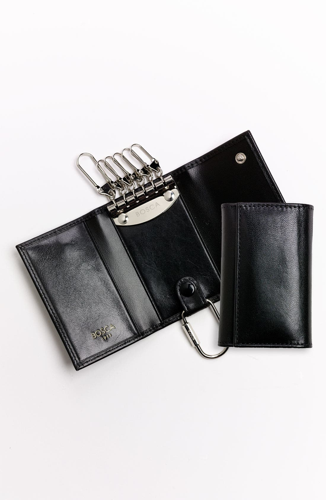 'Old Leather' Key Case,                             Alternate thumbnail 4, color,                             001