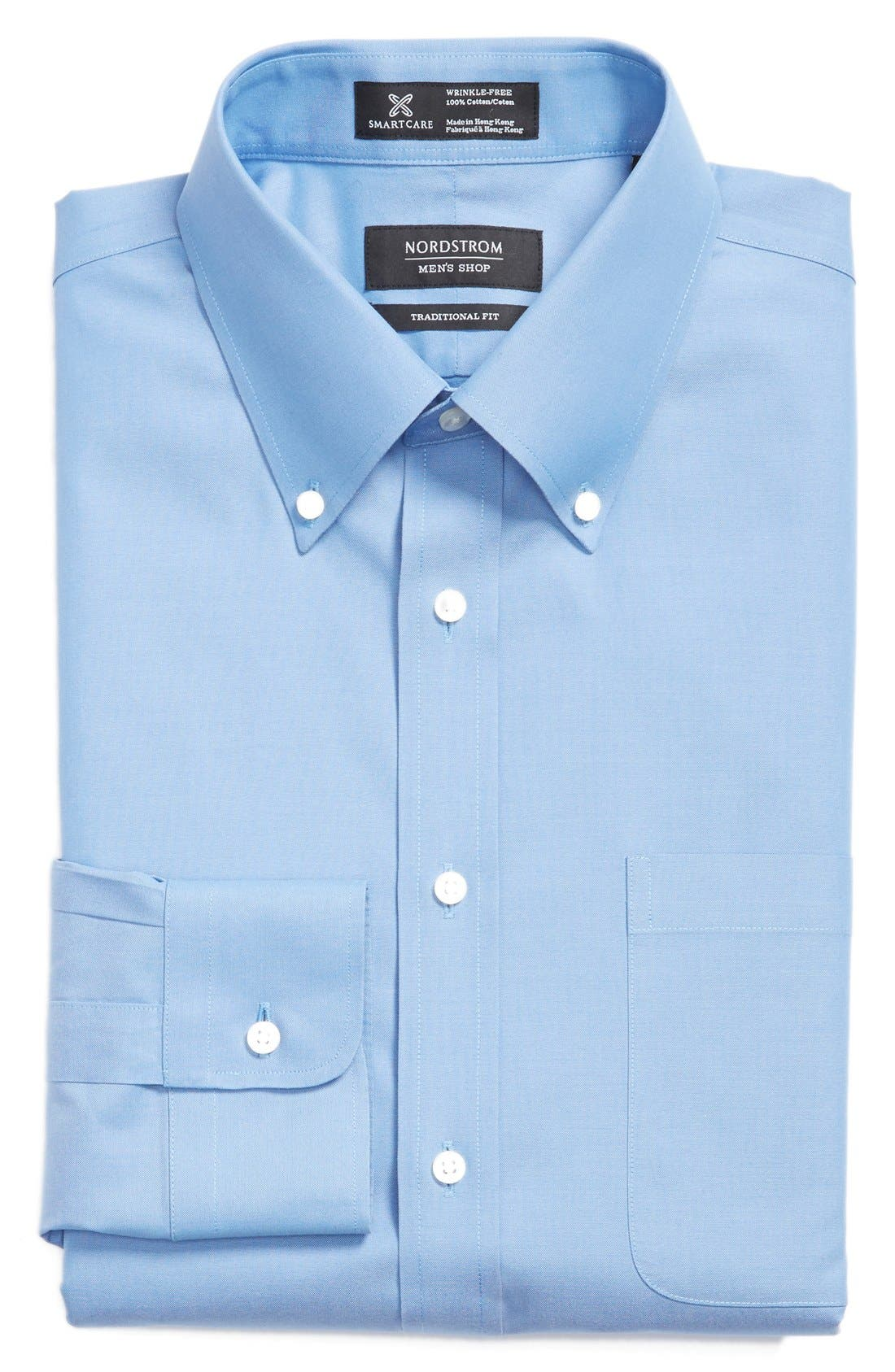 Smartcare<sup>™</sup> Traditional Fit Pinpoint Dress Shirt,                             Main thumbnail 22, color,