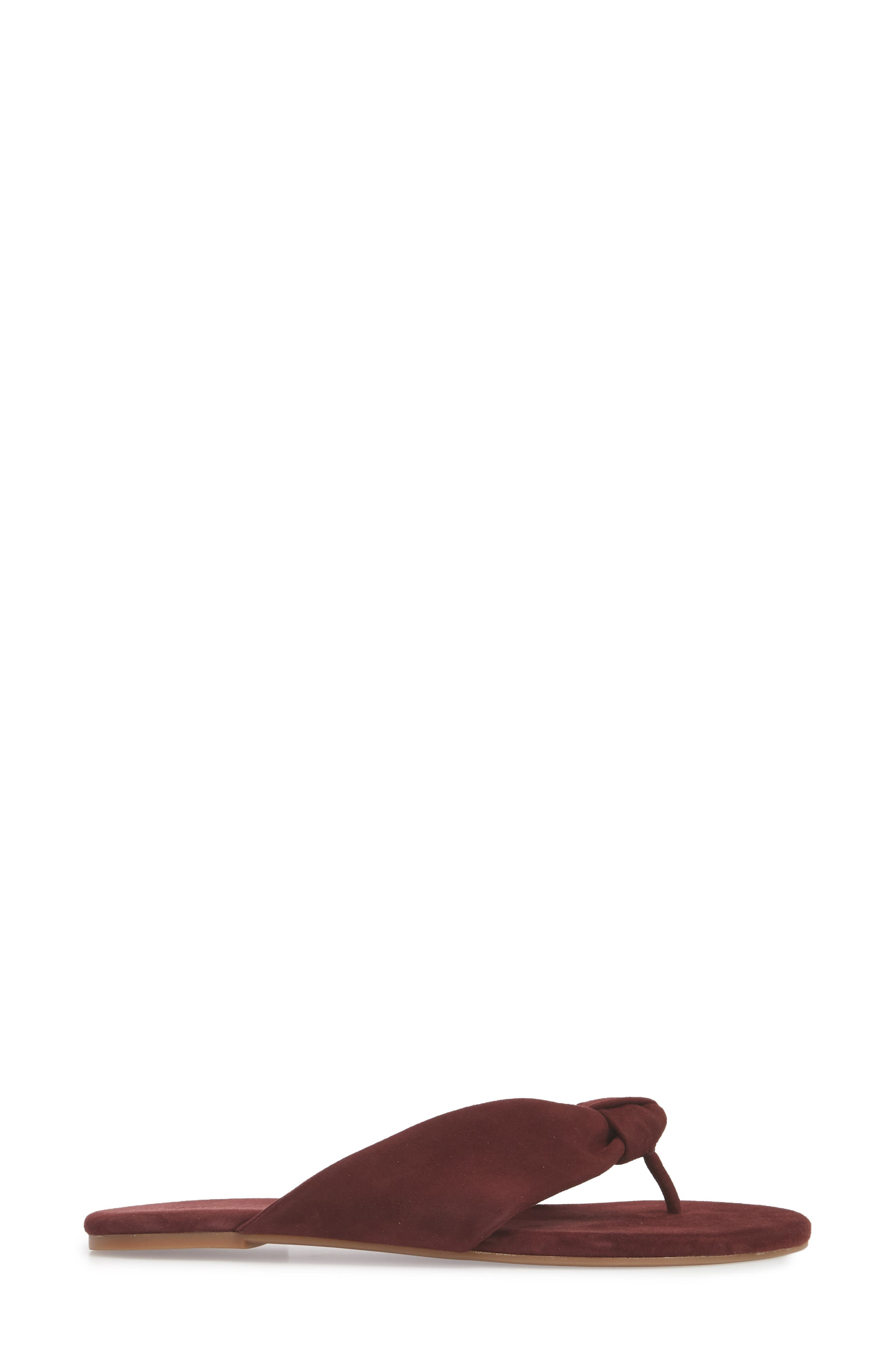 Bridgette Knotted Flip Flop,                             Alternate thumbnail 22, color,