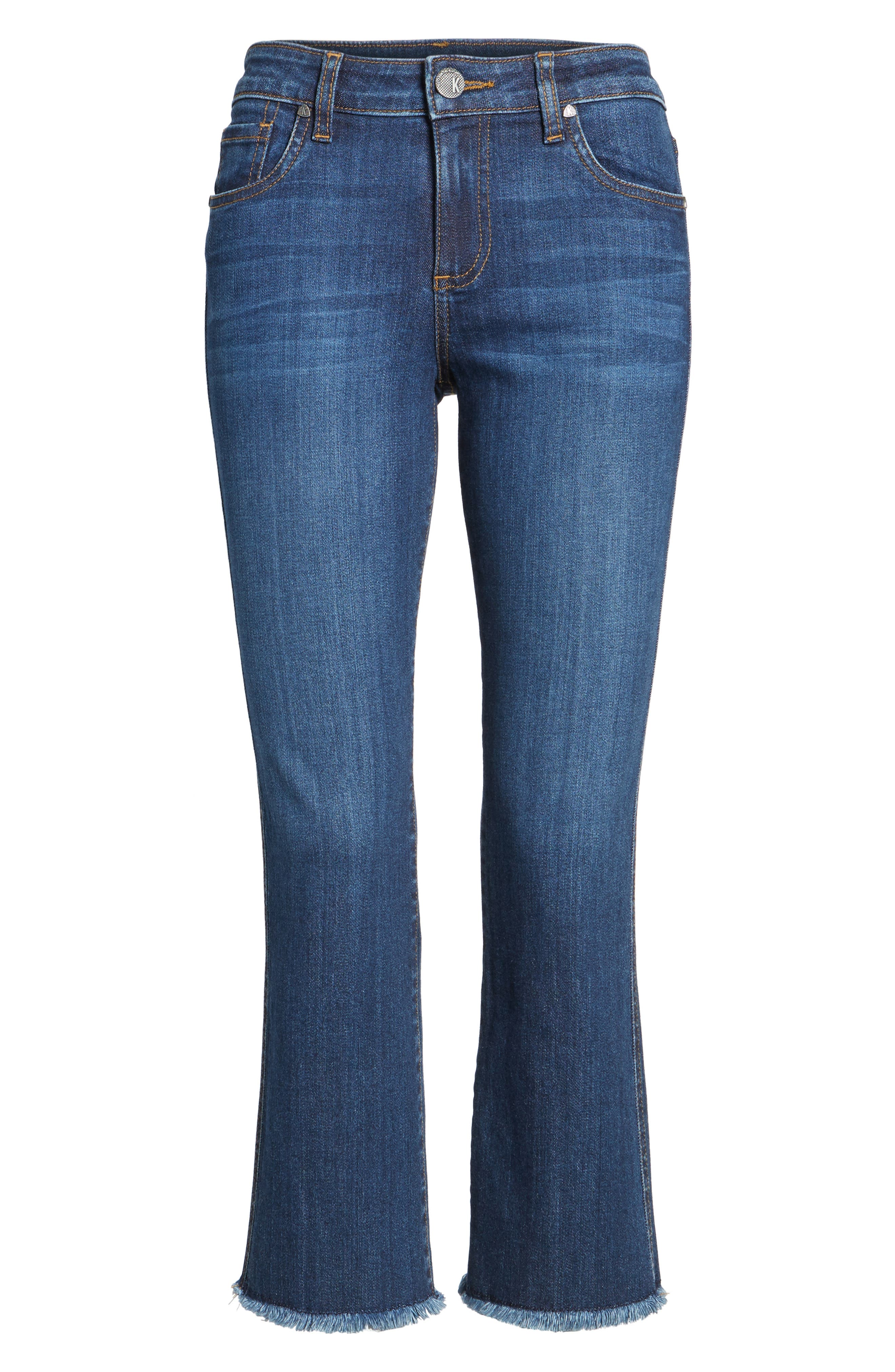 Reese Frayed Ankle Jeans,                             Alternate thumbnail 6, color,                             414