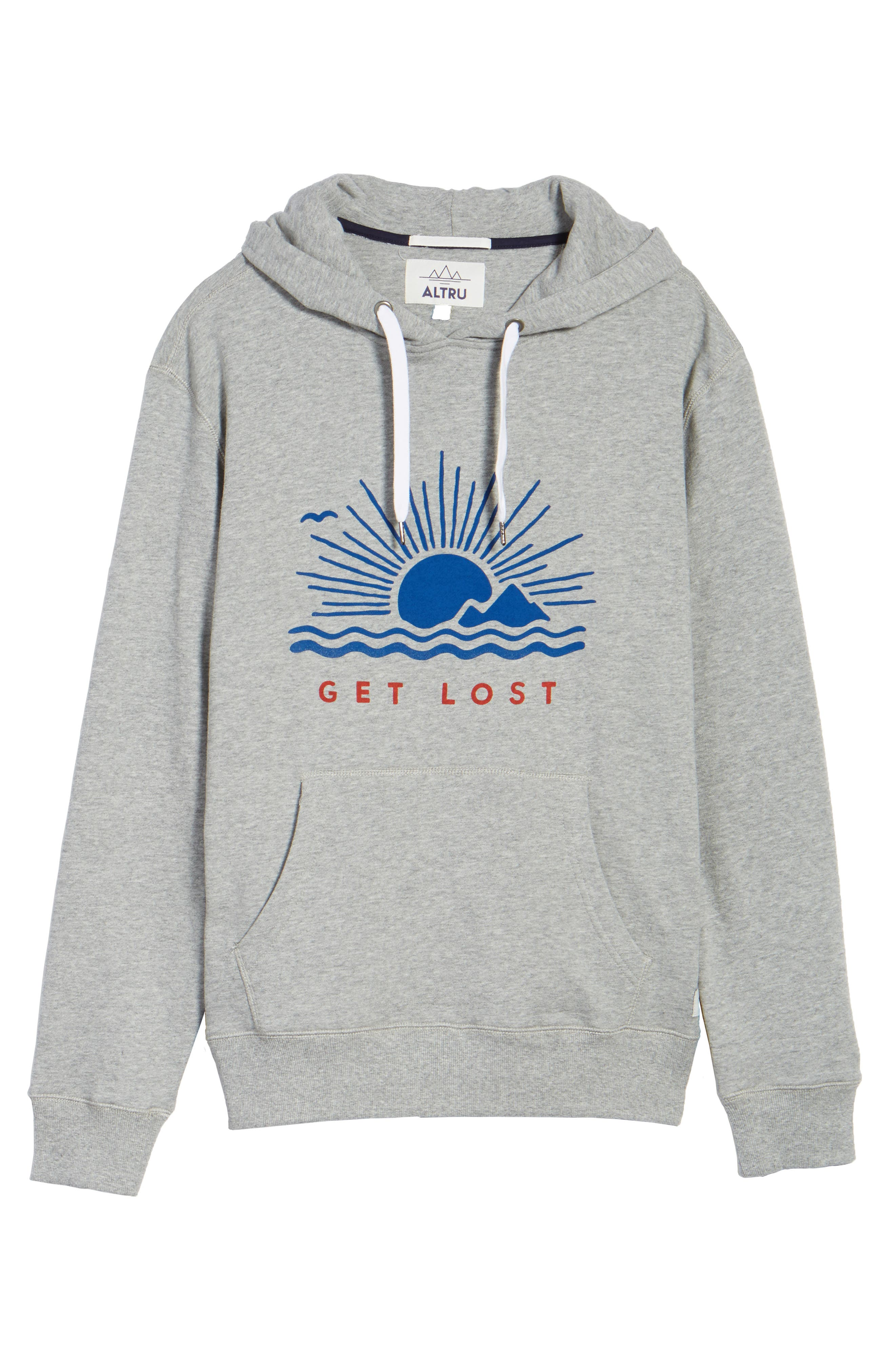 Get Lost French Terry Hoodie,                             Alternate thumbnail 6, color,                             020