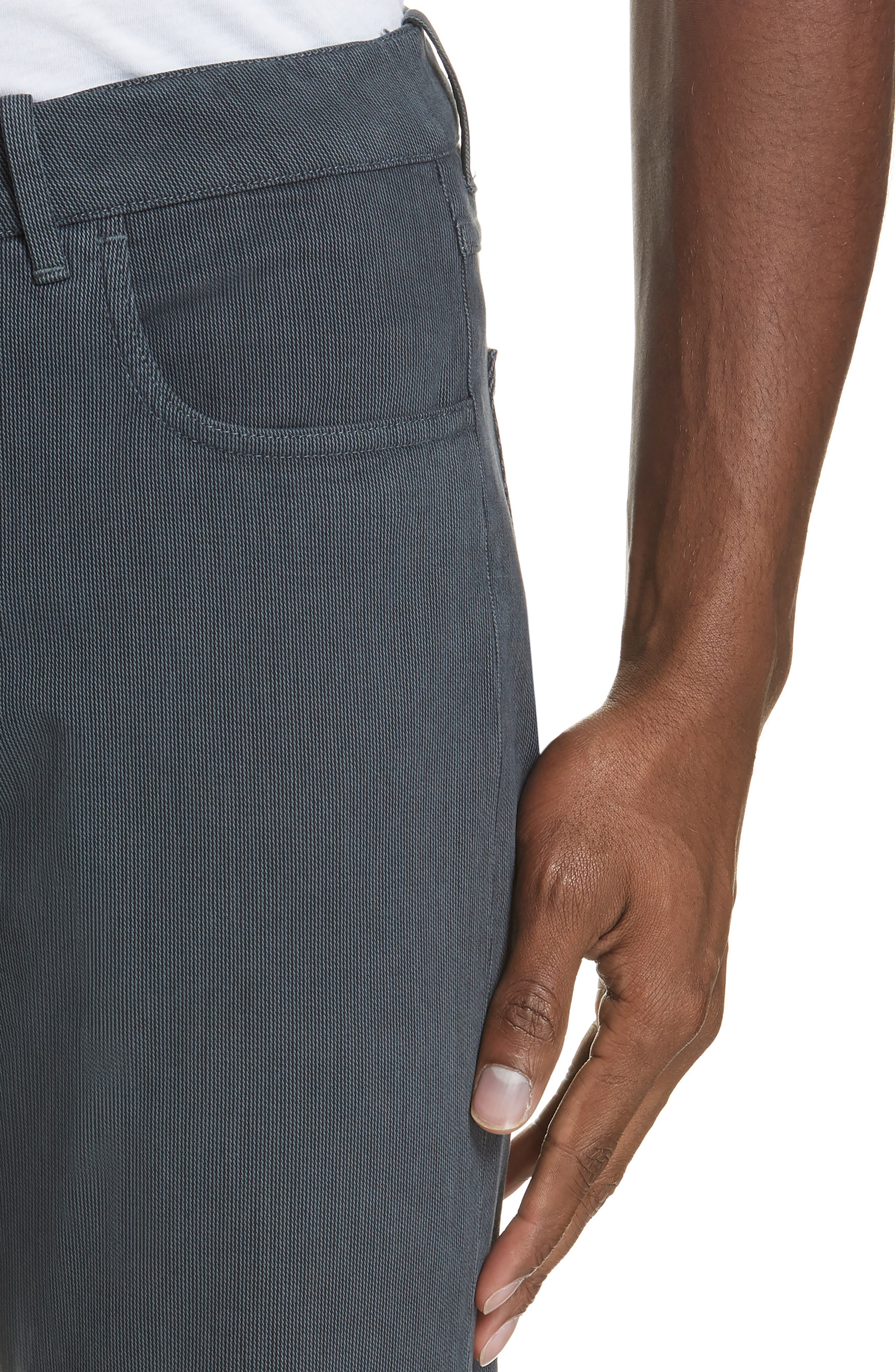 Stretch Cotton Five-Pocket Trousers,                             Alternate thumbnail 4, color,                             GREY