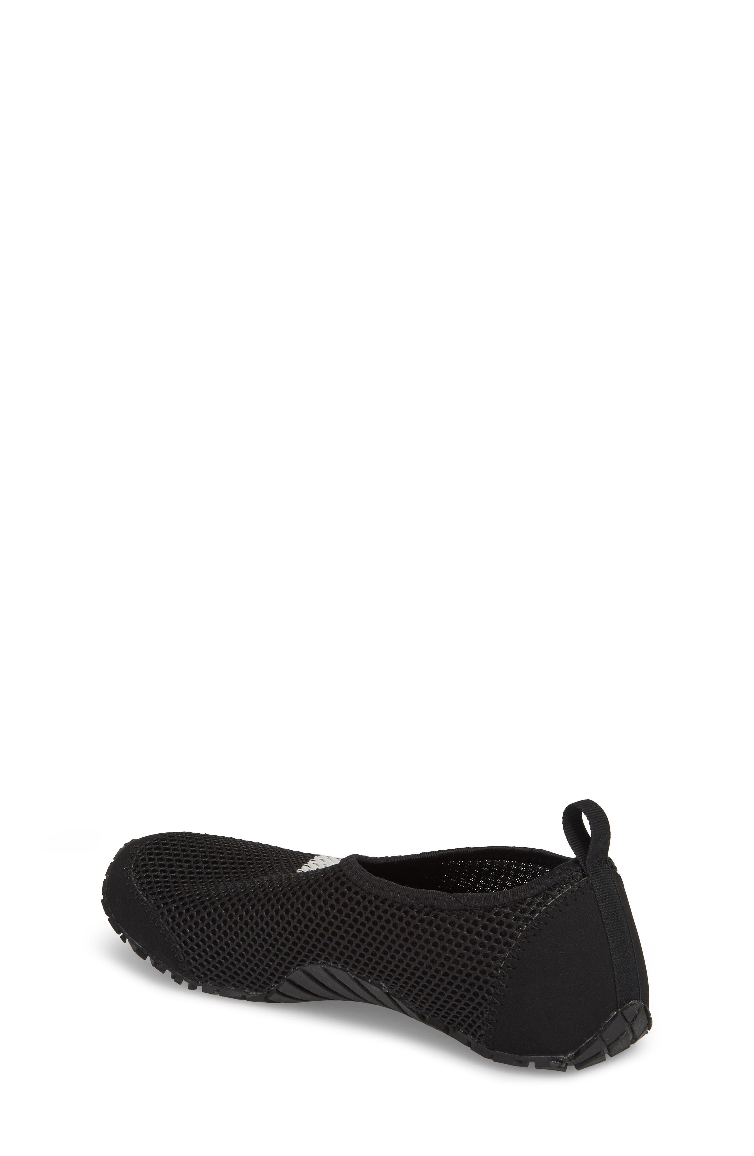 Kurobe Mesh Slip-On Water Shoe,                             Alternate thumbnail 2, color,                             BLACK/ BLACK GREY ONE