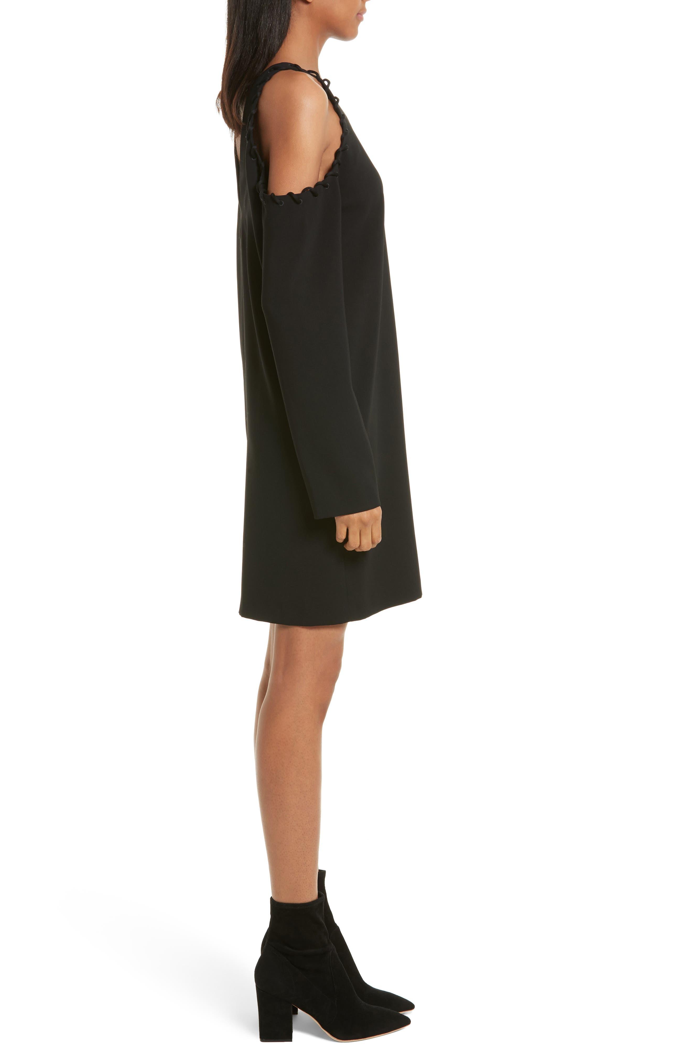 Breen Cold Shoulder Dress,                             Alternate thumbnail 3, color,                             001