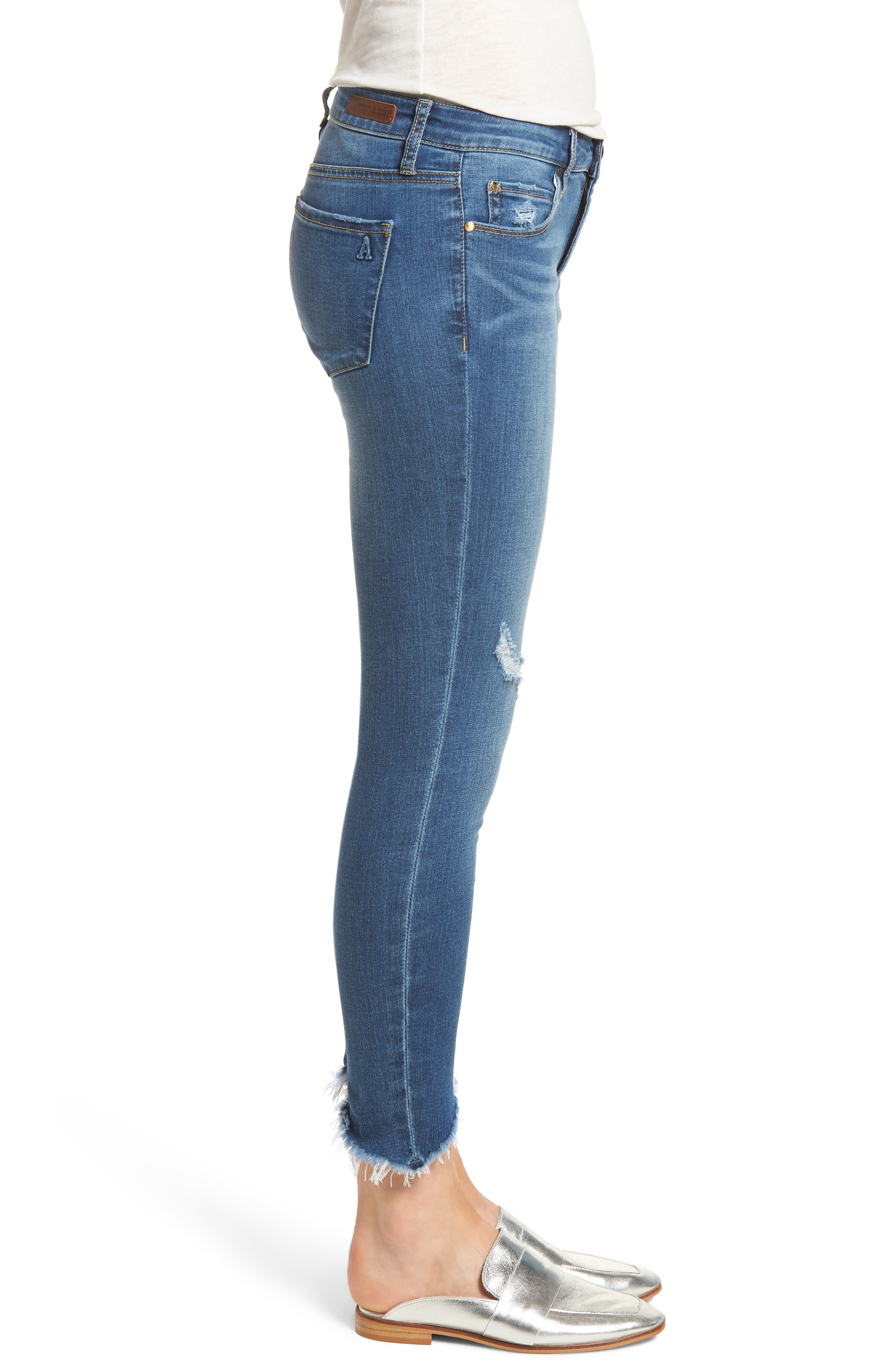 Sammy Distressed Crop Skinny Jeans,                             Alternate thumbnail 3, color,                             400