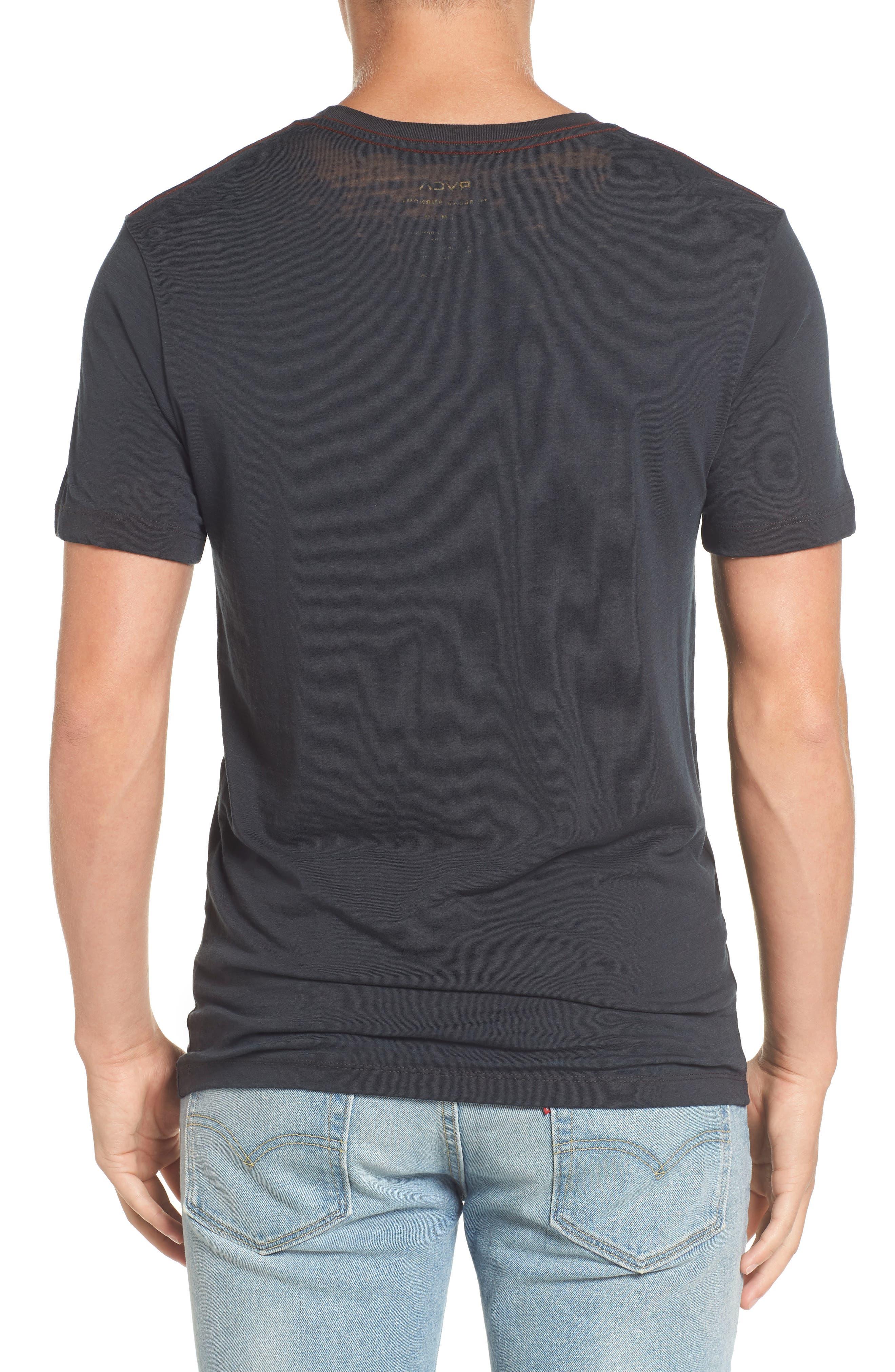 Flipped Perimeter Burnout T-Shirt,                             Alternate thumbnail 2, color,                             008