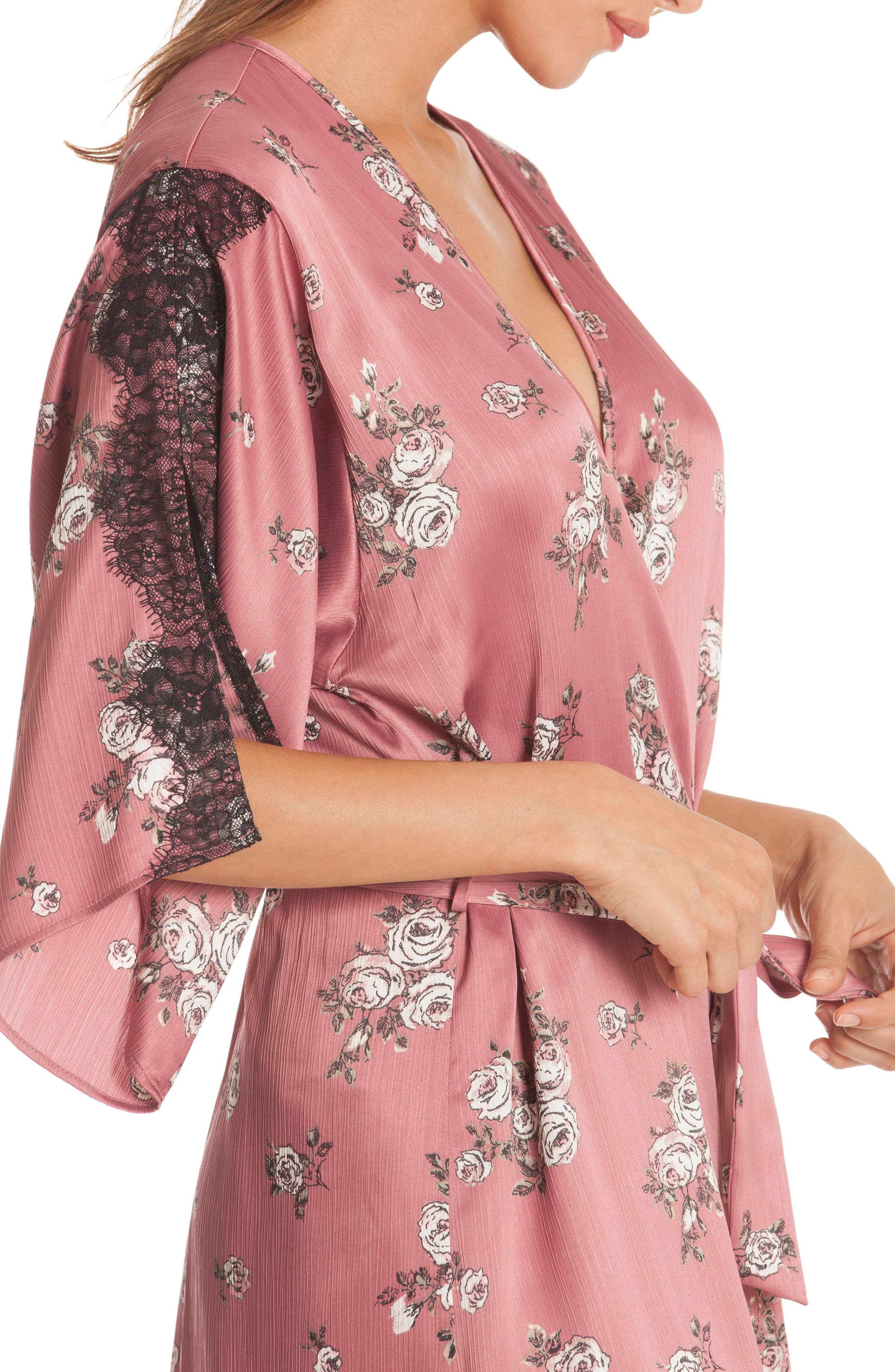 Tegan Kimono Wrap,                             Alternate thumbnail 4, color,                             ROSE