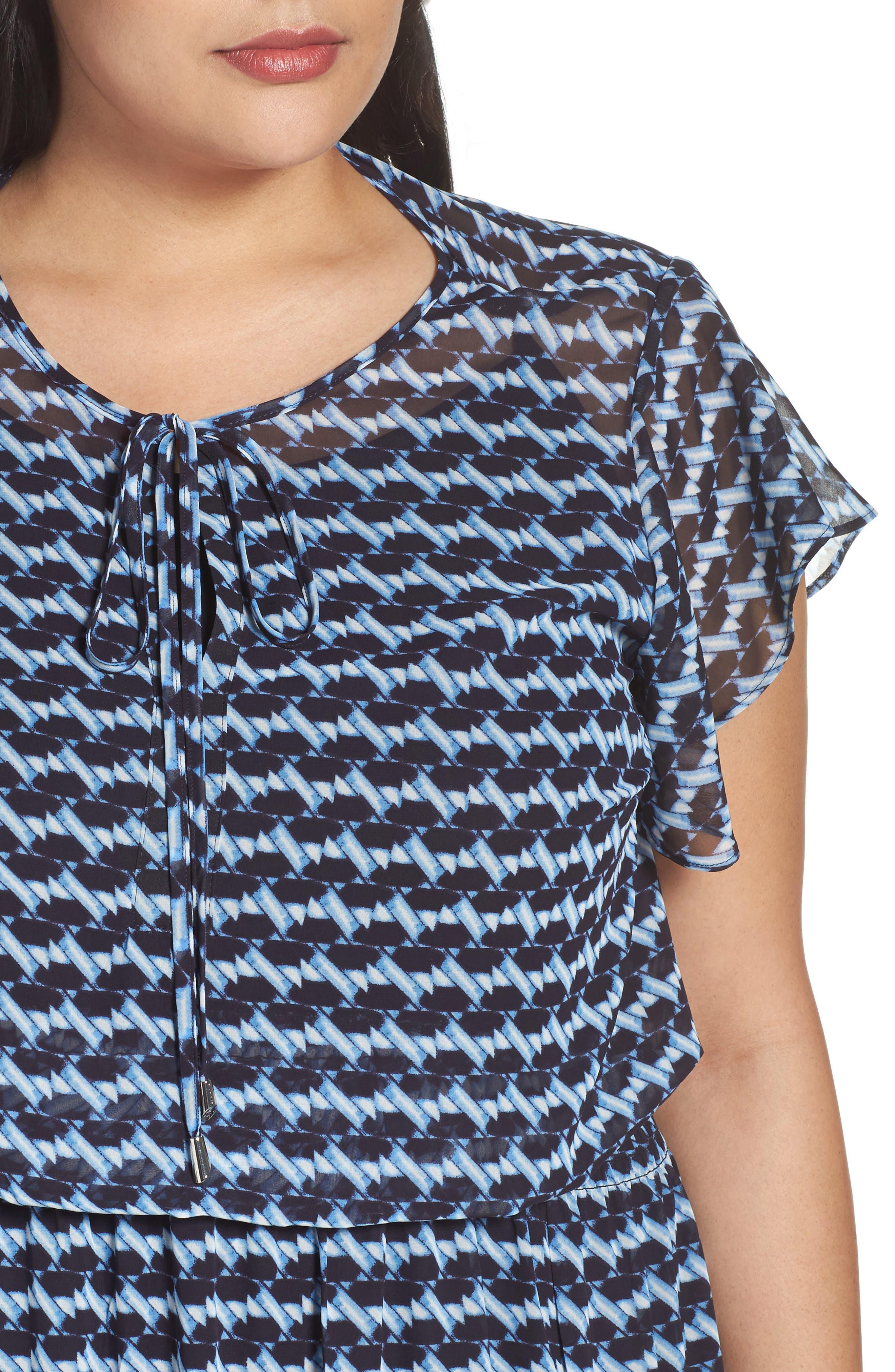 Ruffle Sleeve Chiffon Maxi Dress,                             Alternate thumbnail 4, color,                             400