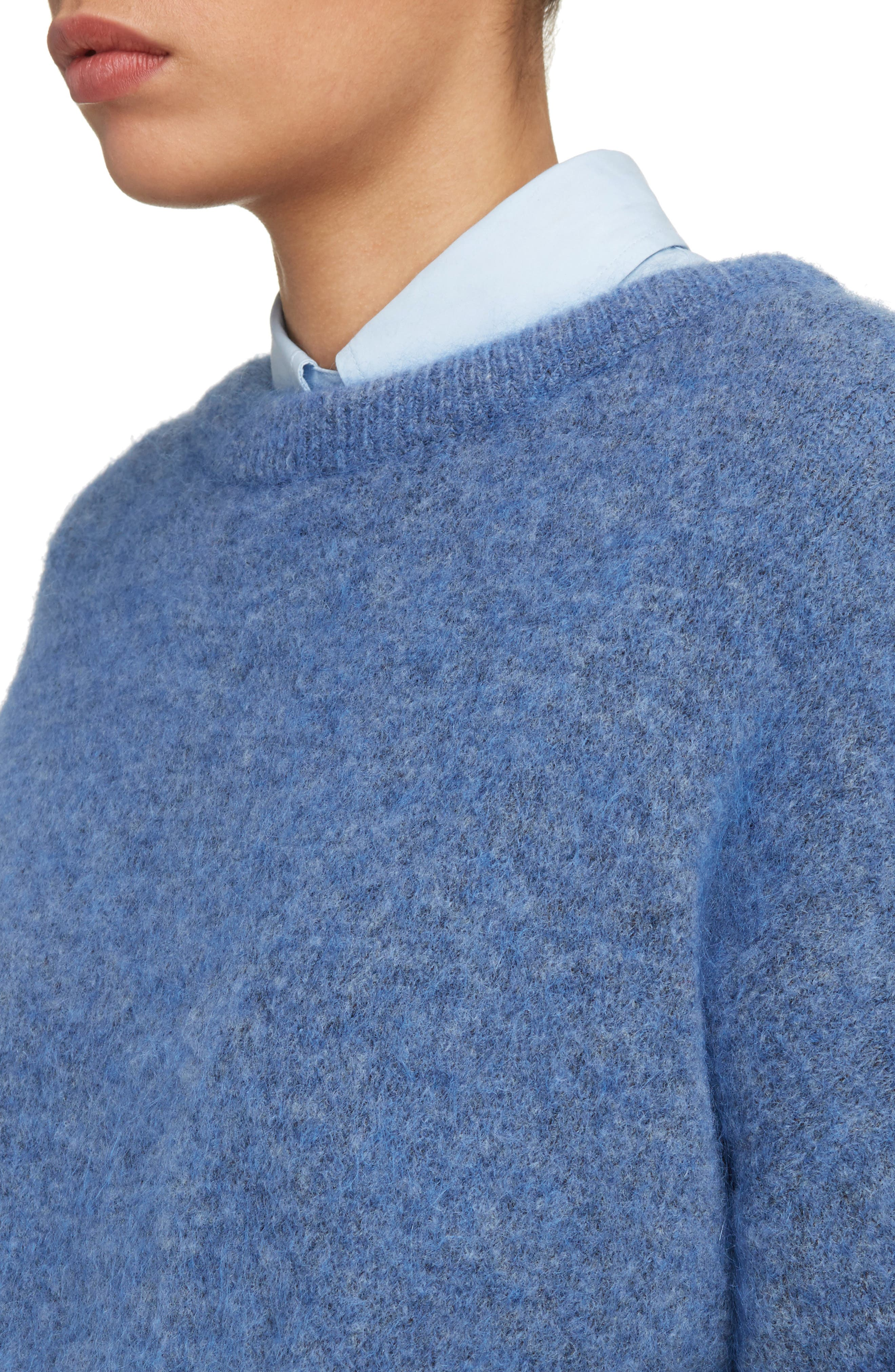 Dramatic Oversized Mohair Blend Sweater,                             Alternate thumbnail 4, color,