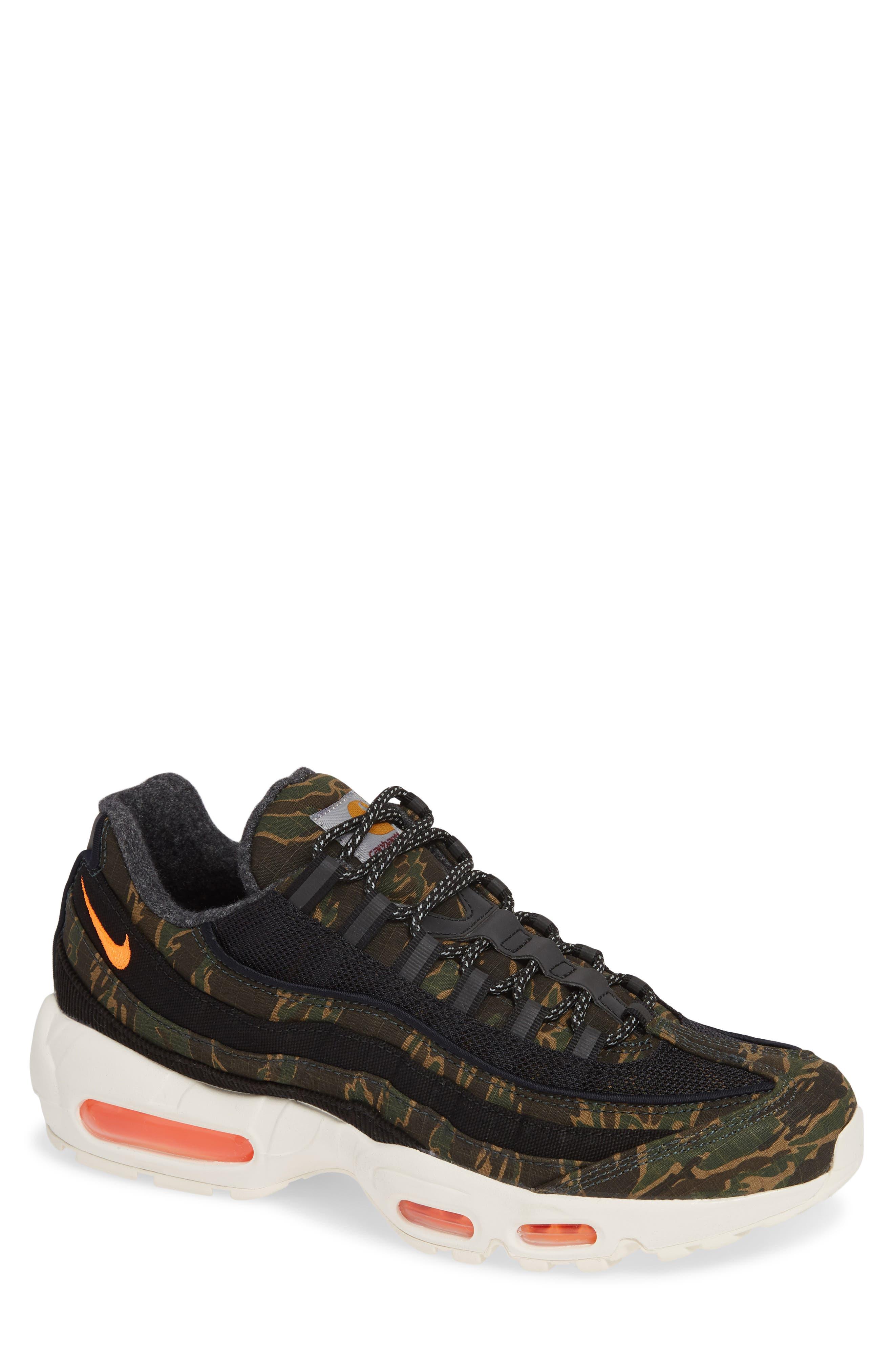 NIKE x Carhartt Air Max 95 WIP Sneaker, Main, color, 001