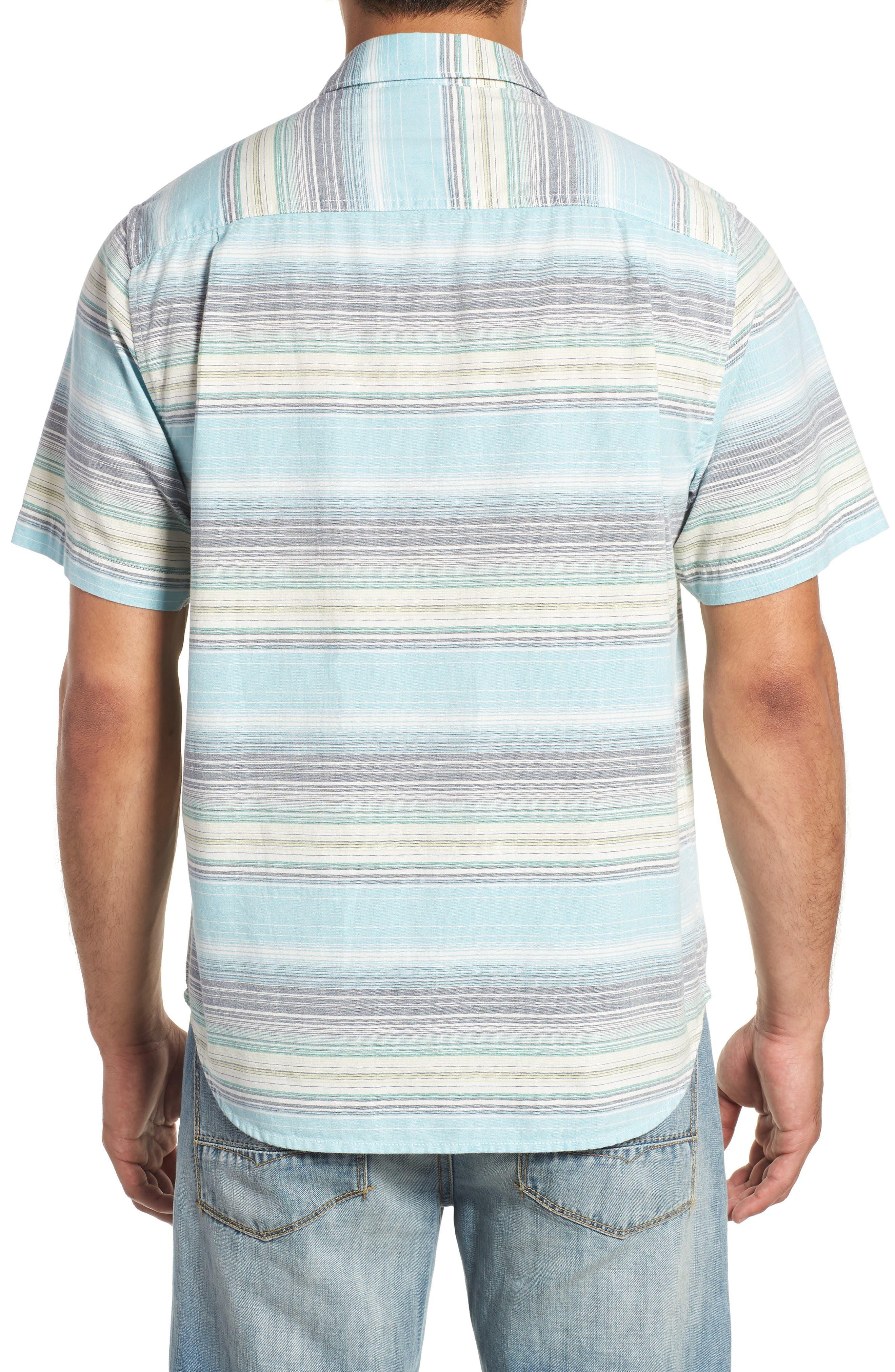 Somara Stripe Sport Shirt,                             Alternate thumbnail 3, color,                             AQUA MIST