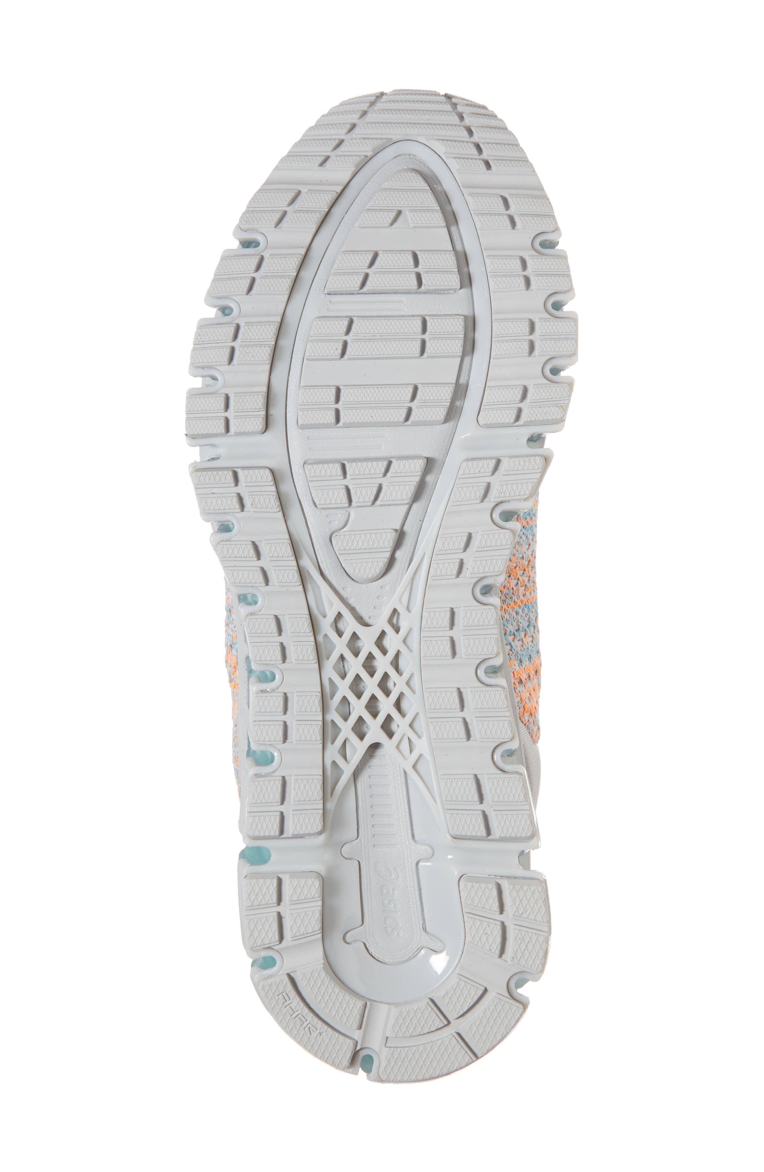 GEL-Quantum 360 Running Shoe,                             Alternate thumbnail 6, color,                             GLACIER GREY/ ORANGE POP/ BLUE