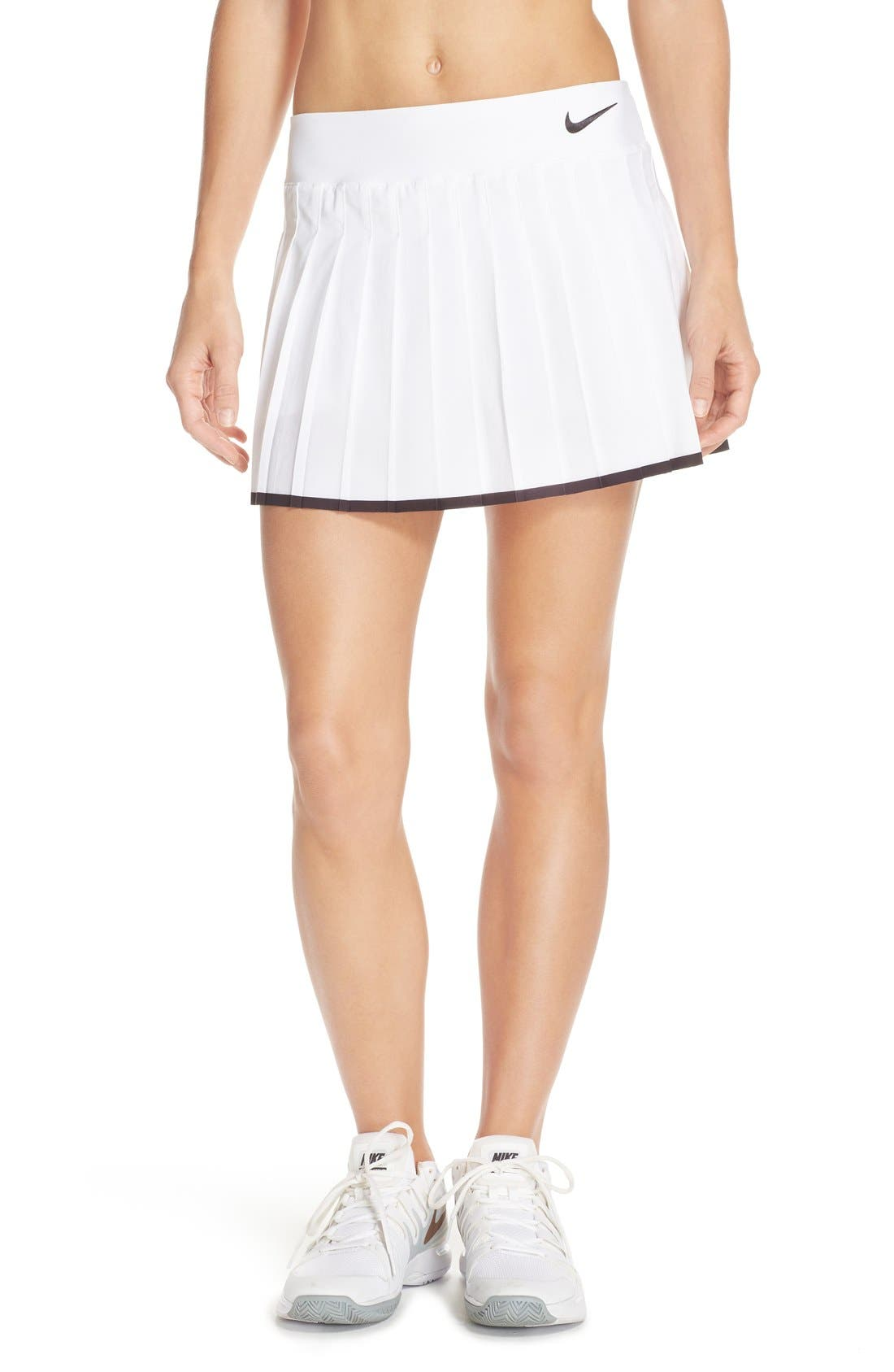 'Victory' Pleat Dri-FIT Tennis Skirt,                             Main thumbnail 9, color,