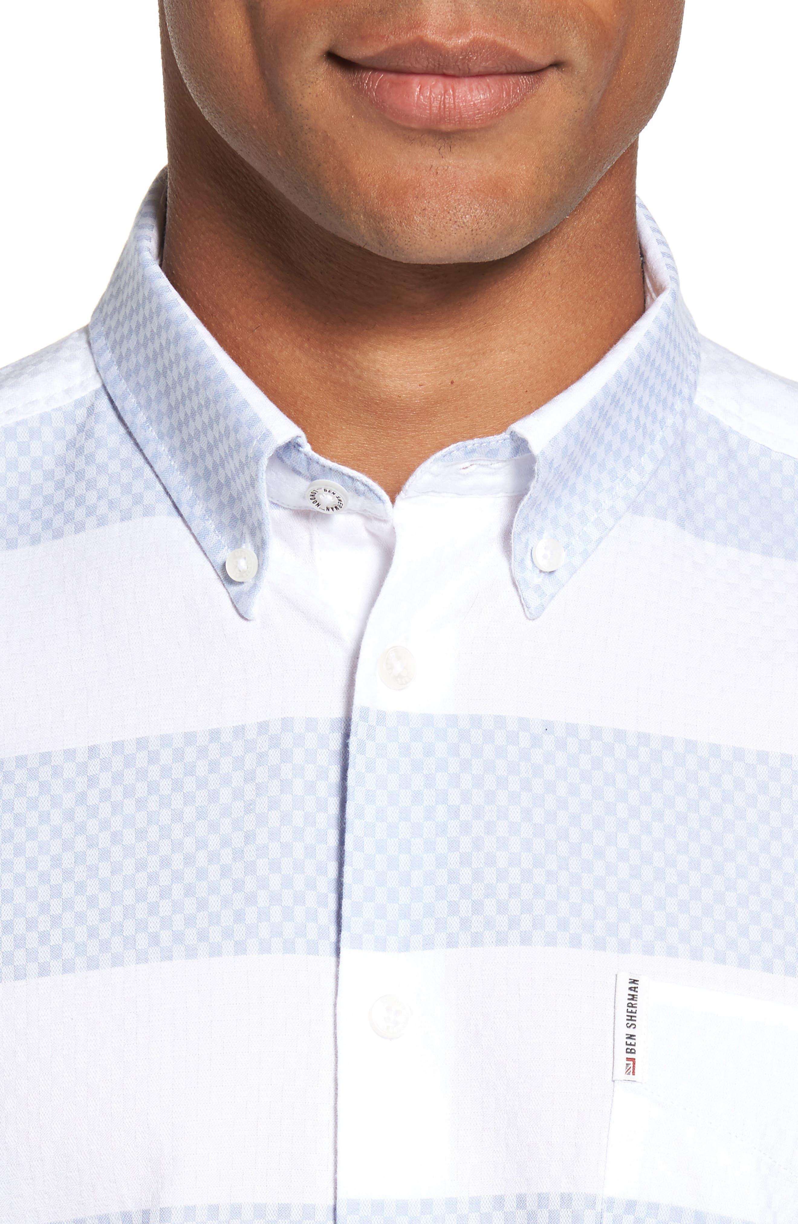 Dobby Gingham Stripes Shirt,                             Alternate thumbnail 4, color,