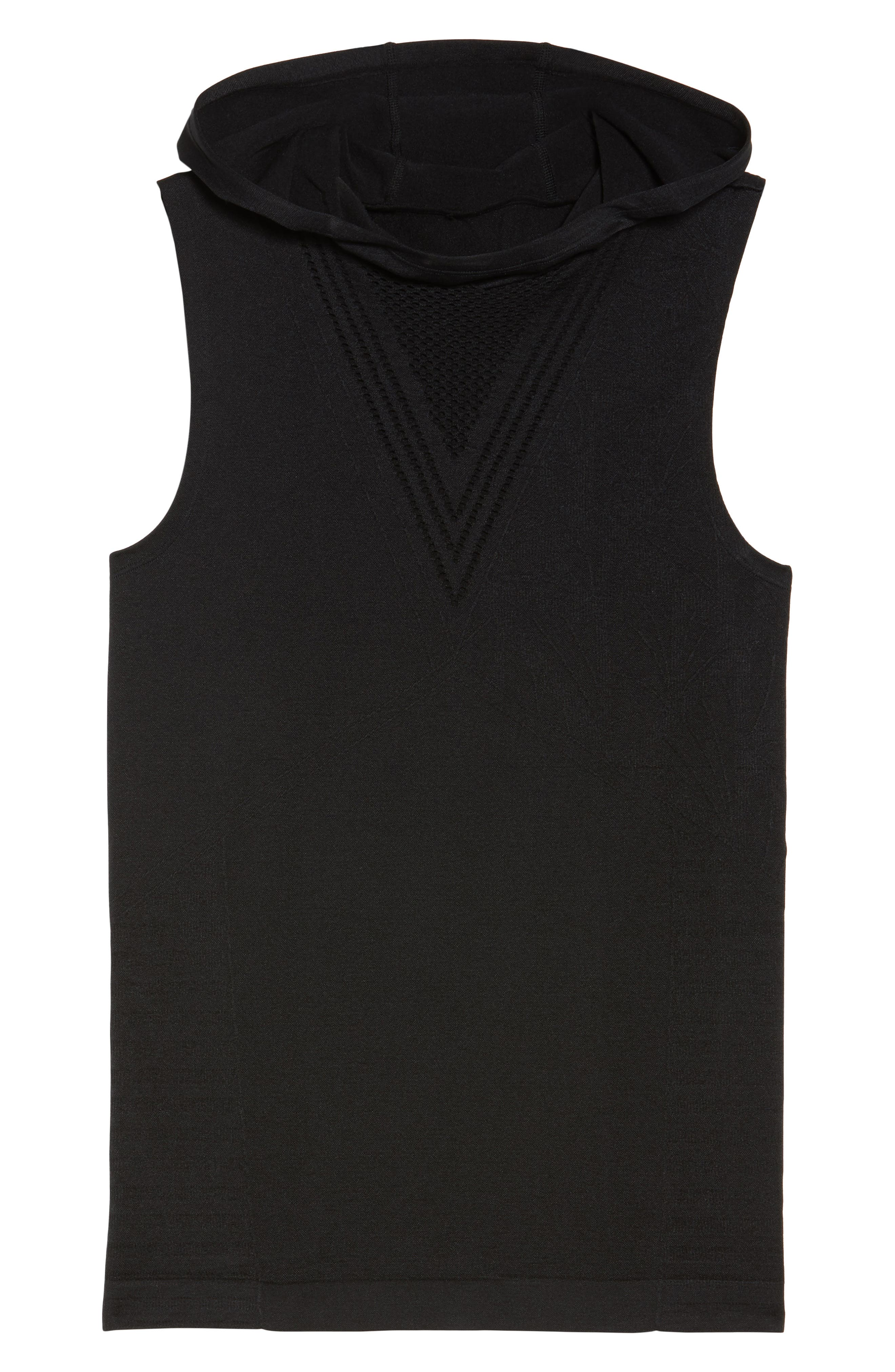 Velocity Sleeveless Hoodie,                             Alternate thumbnail 7, color,                             001