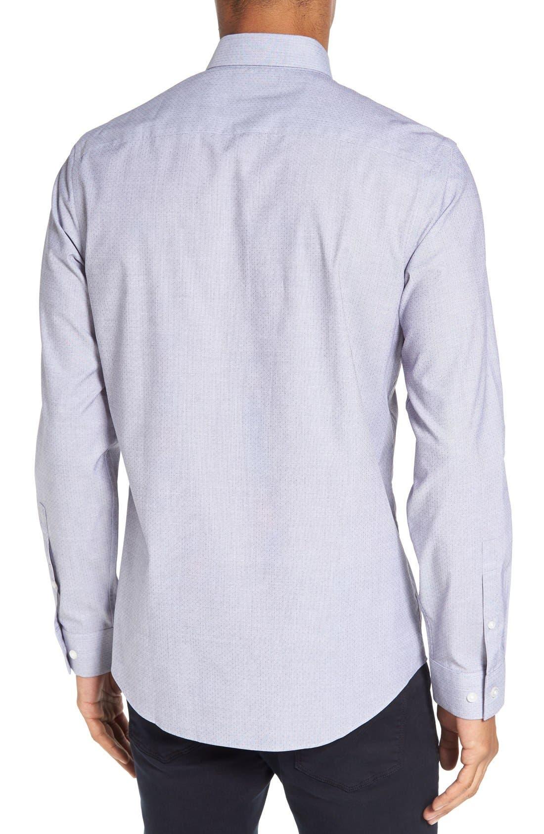 Trim Fit End on End Dobby Sport Shirt,                             Alternate thumbnail 2, color,                             420