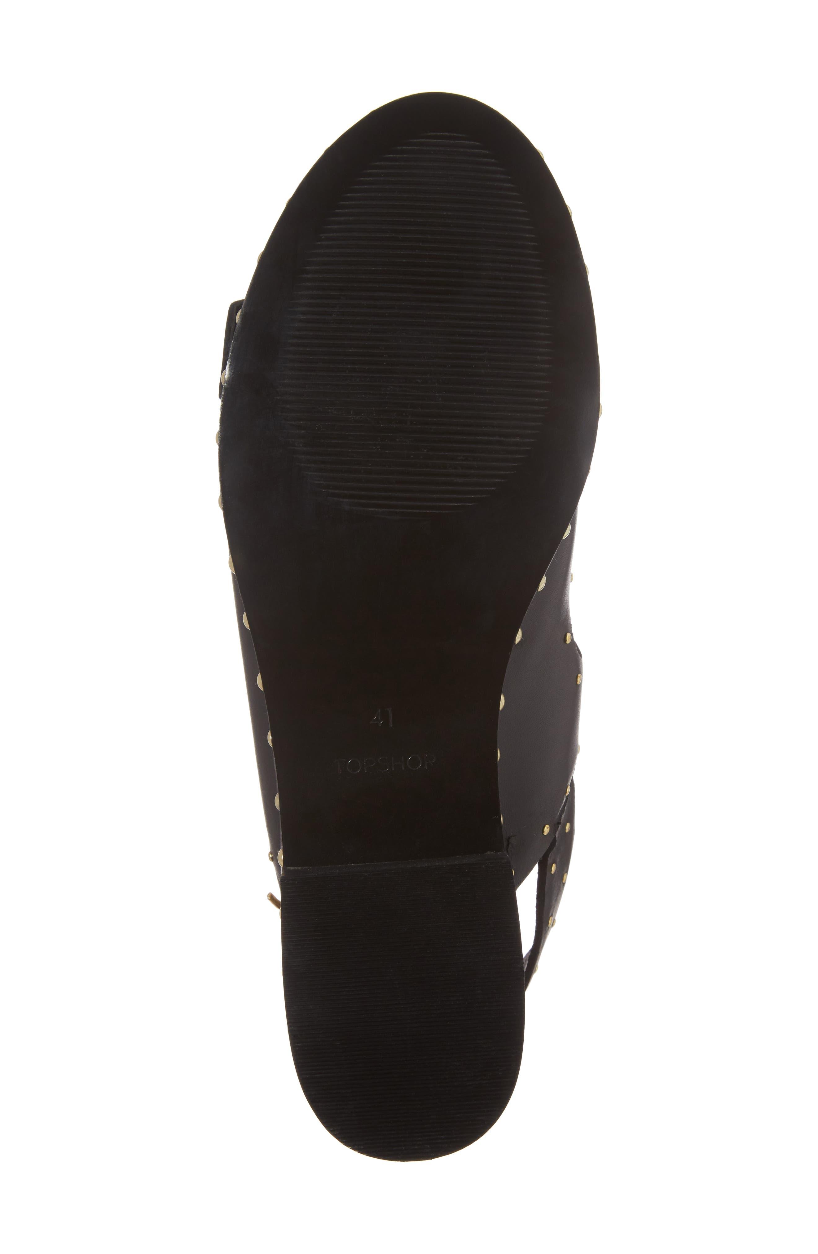 Frank Studded Buckle Sandal,                             Alternate thumbnail 6, color,                             001