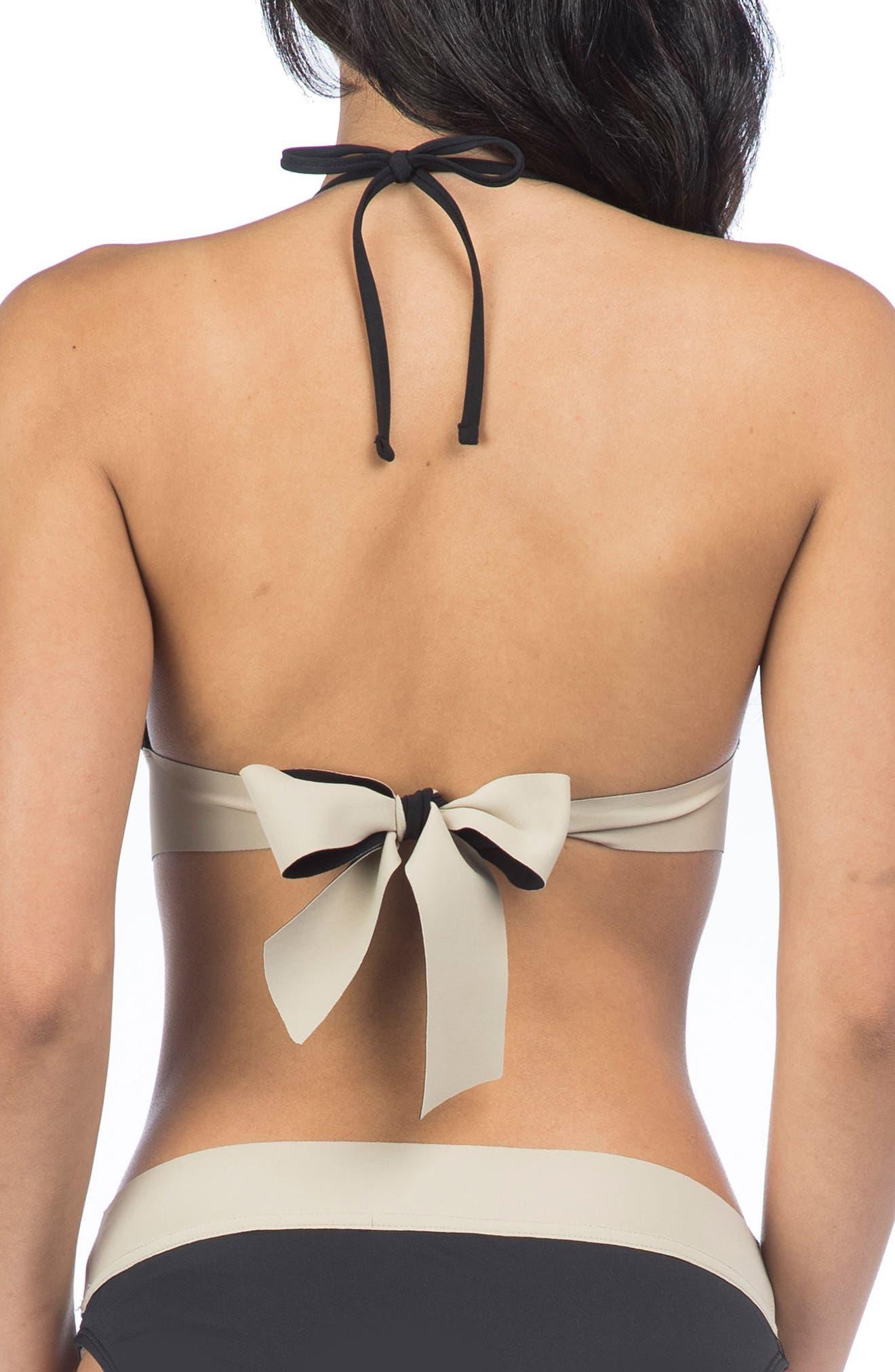 Bondage Halter Bikini Top,                             Alternate thumbnail 2, color,                             001