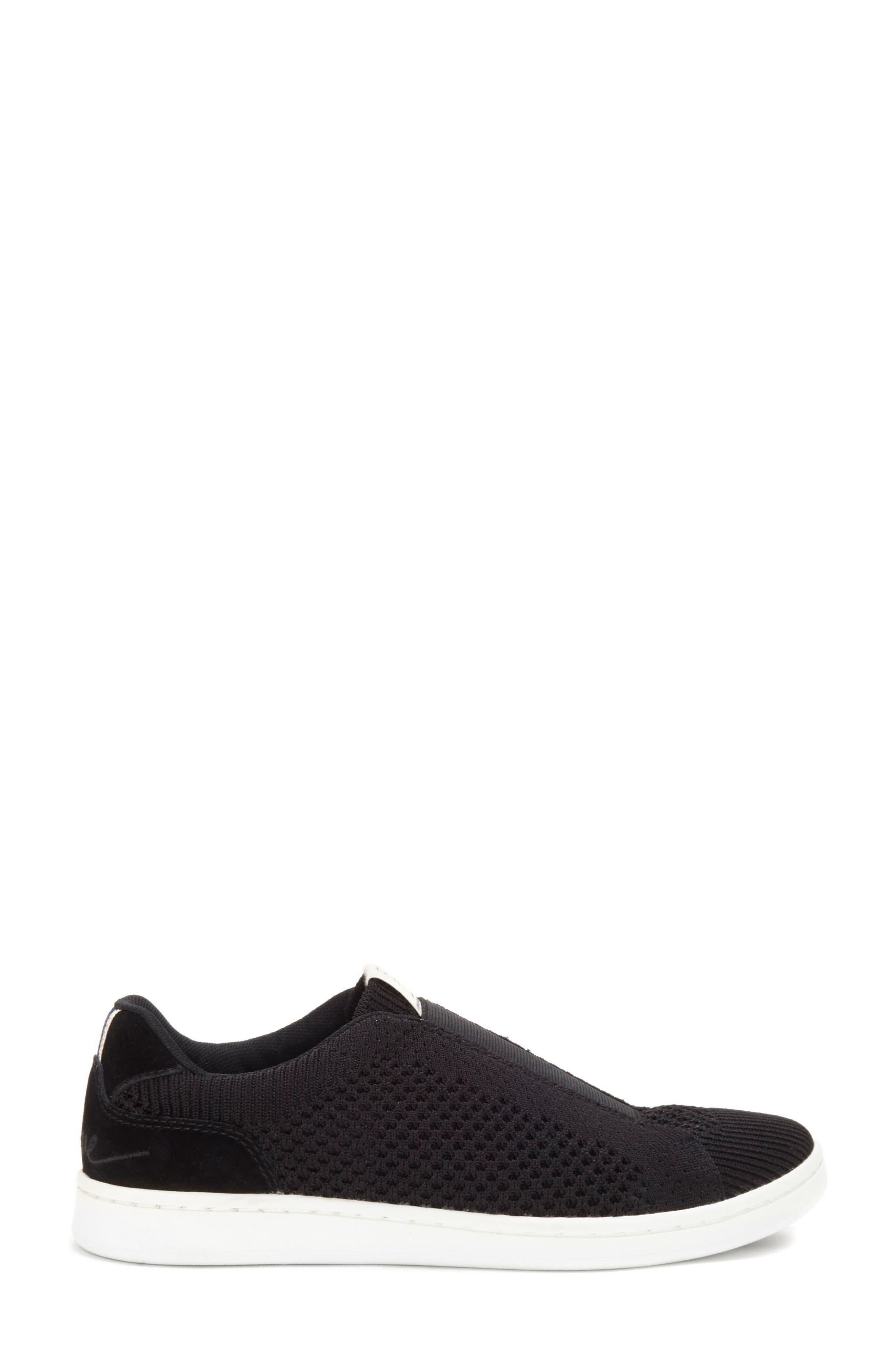 Casbey Slip-On Sneaker,                             Alternate thumbnail 3, color,                             BLACK/ BLACK FABRIC