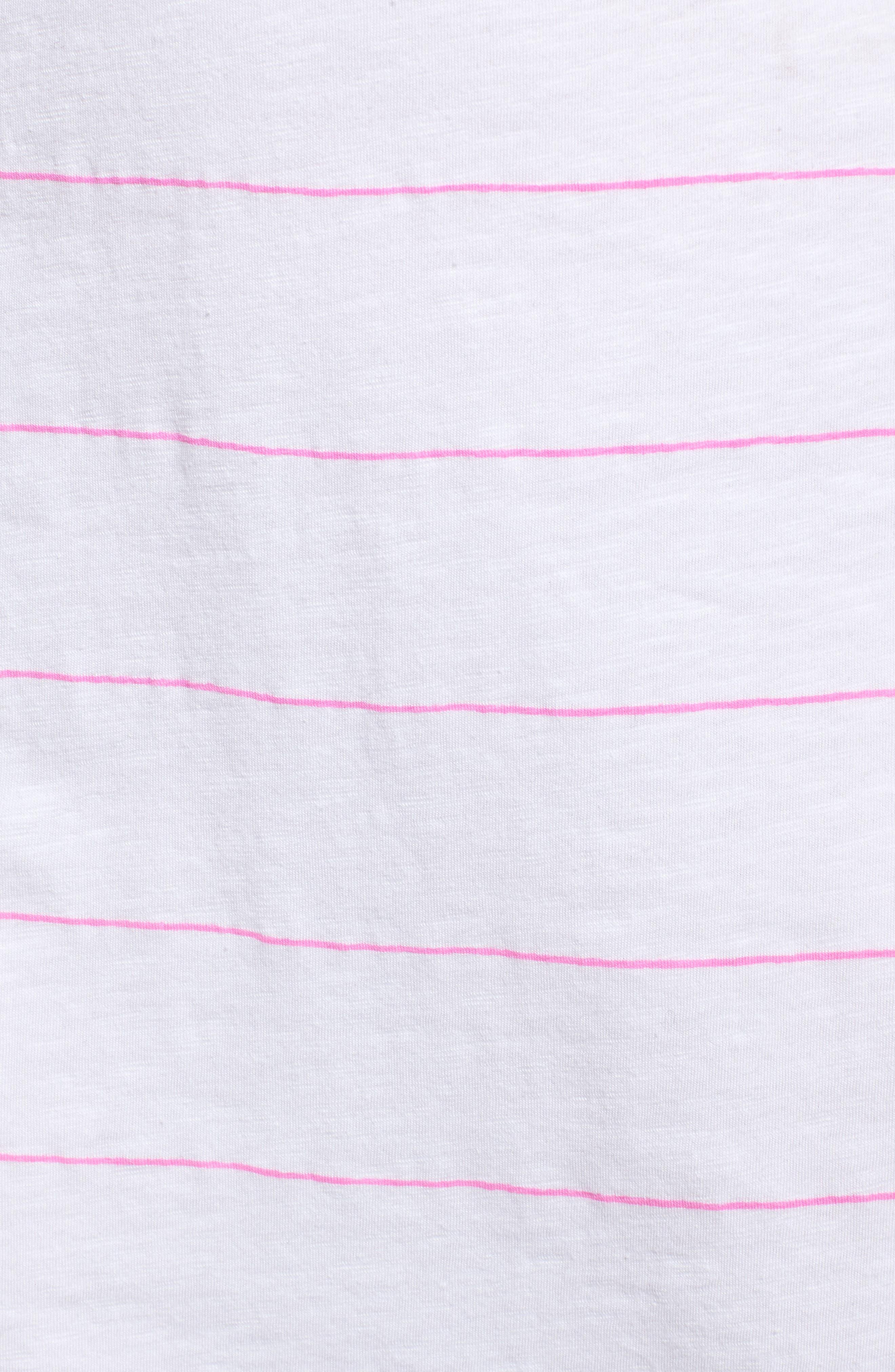 Shirred Racerback Dress,                             Alternate thumbnail 5, color,                             WHITE