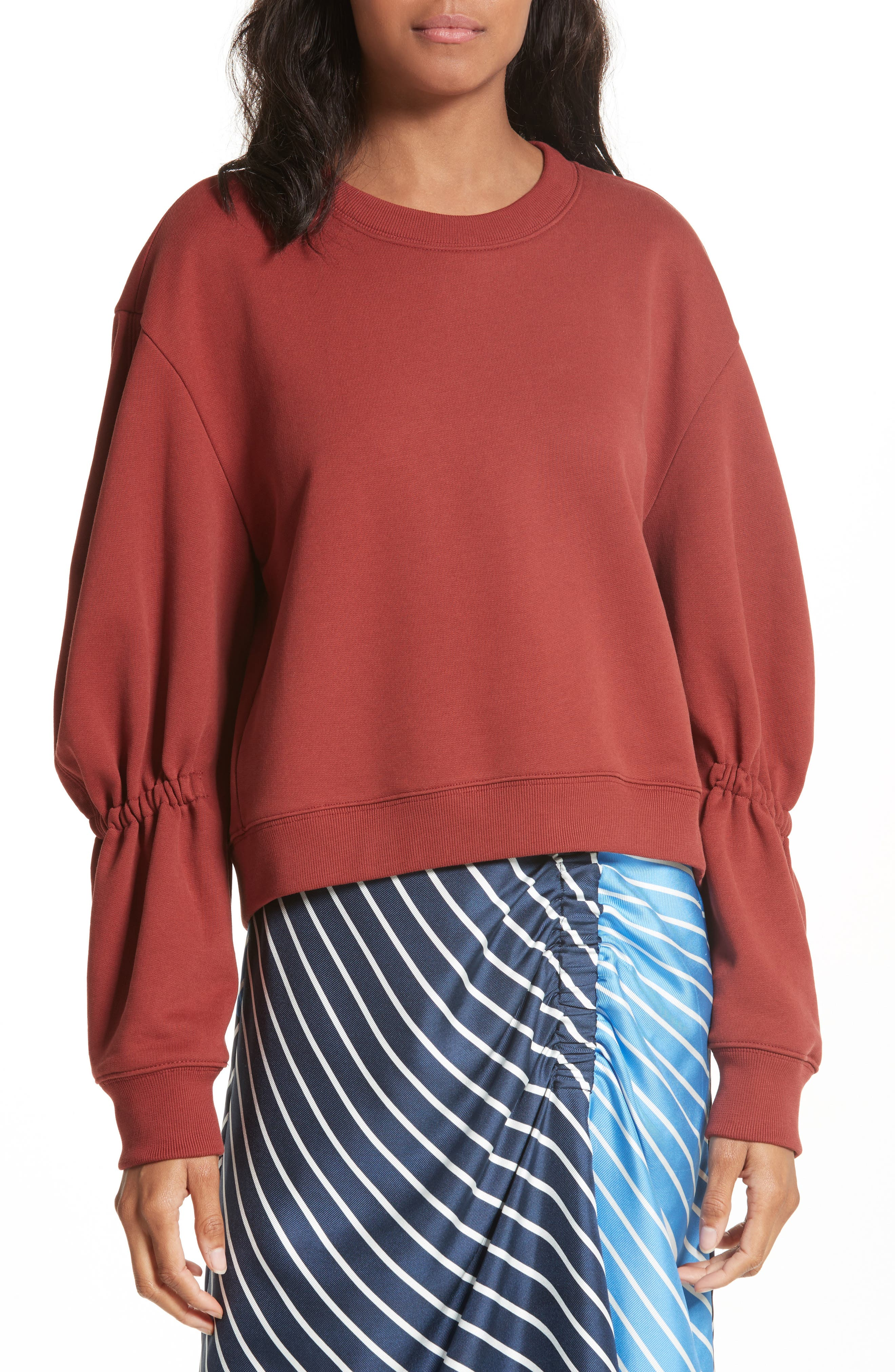 Sculpted Sleeve Sweatshirt, Main, color, 606