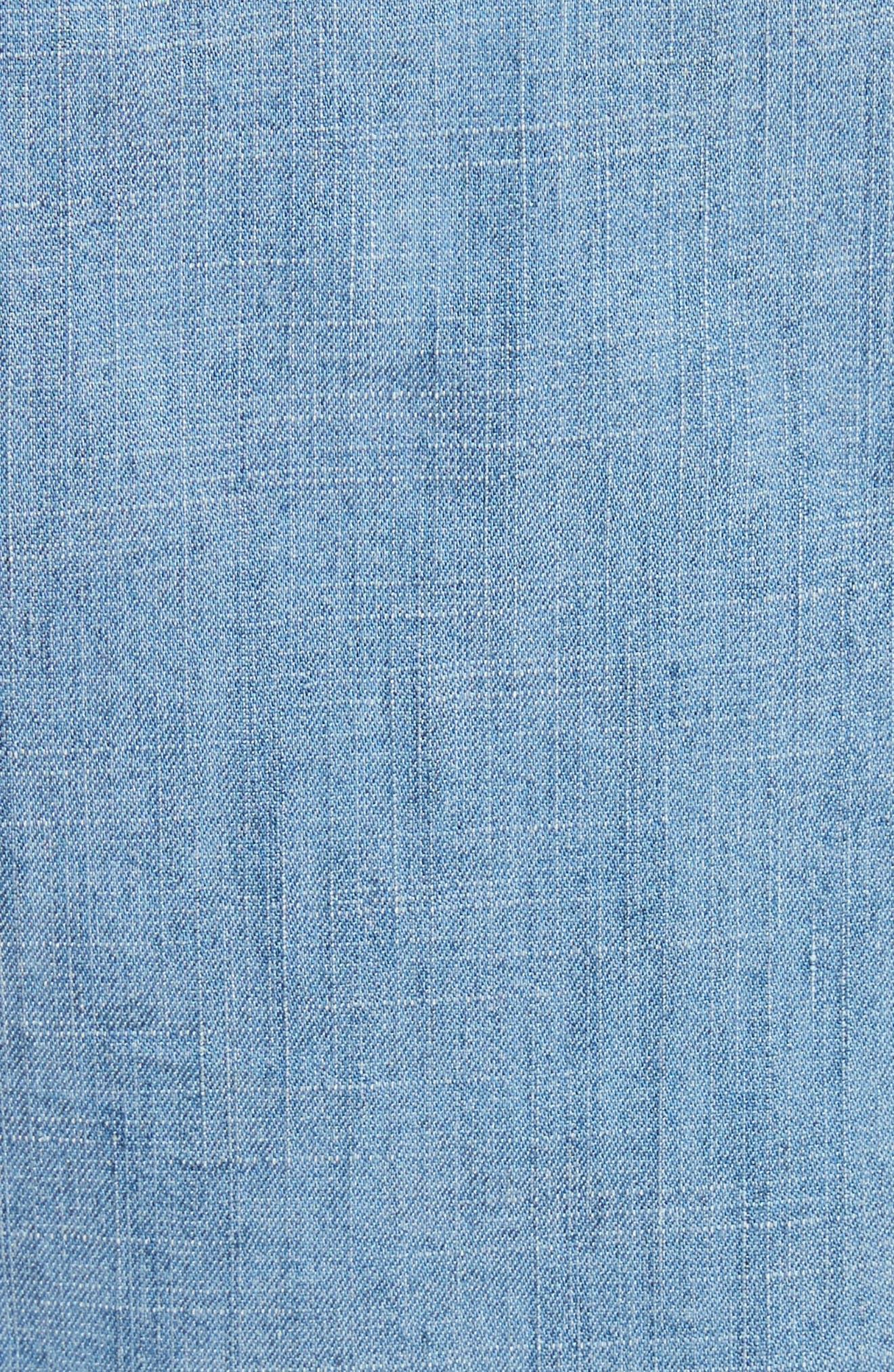 Eloise Appliqué Roll-Cuff Shirt,                             Alternate thumbnail 5, color,                             484