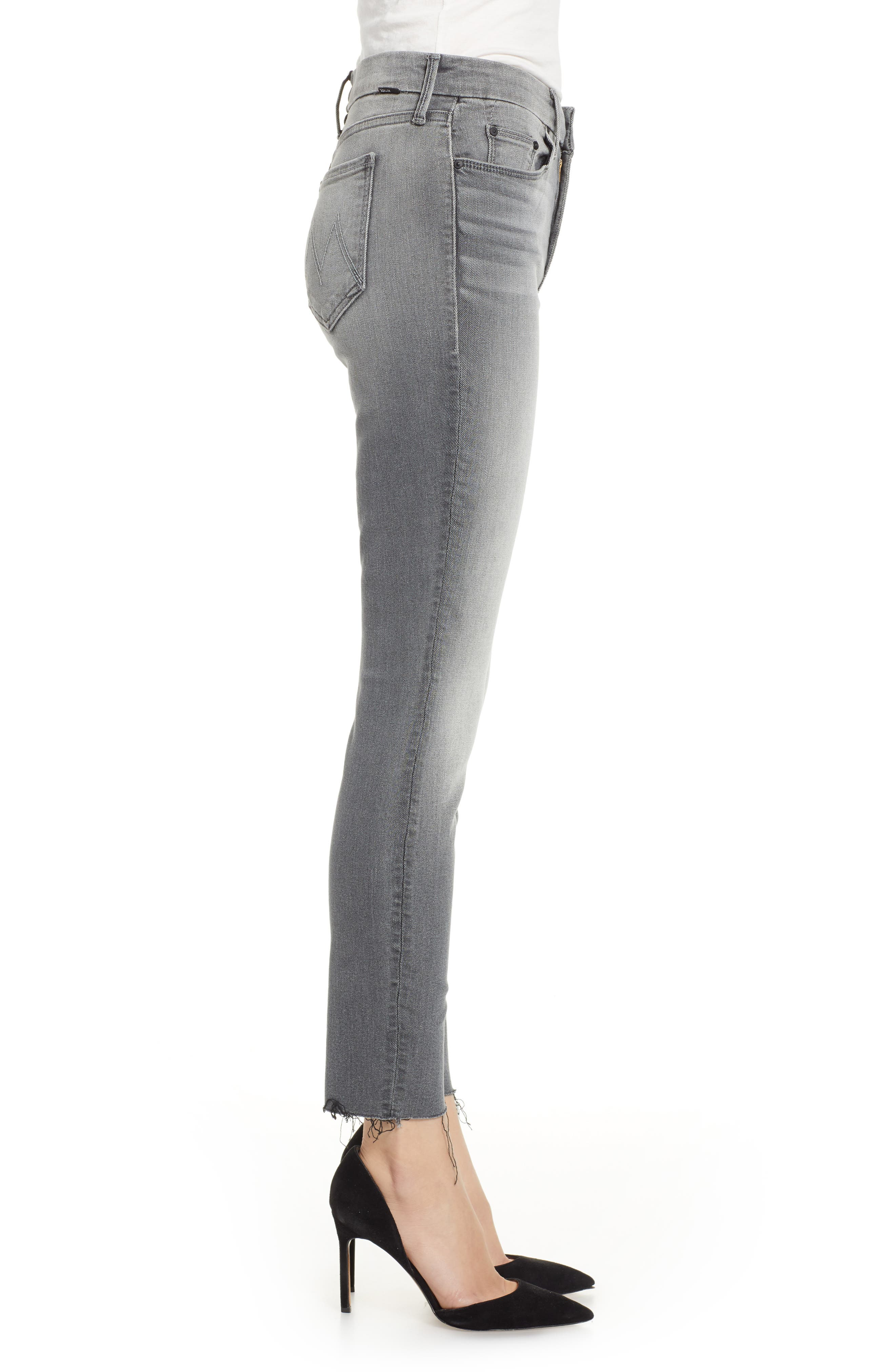 The Looker Frayed Ankle Jeans,                             Alternate thumbnail 3, color,                             SUPER MOON