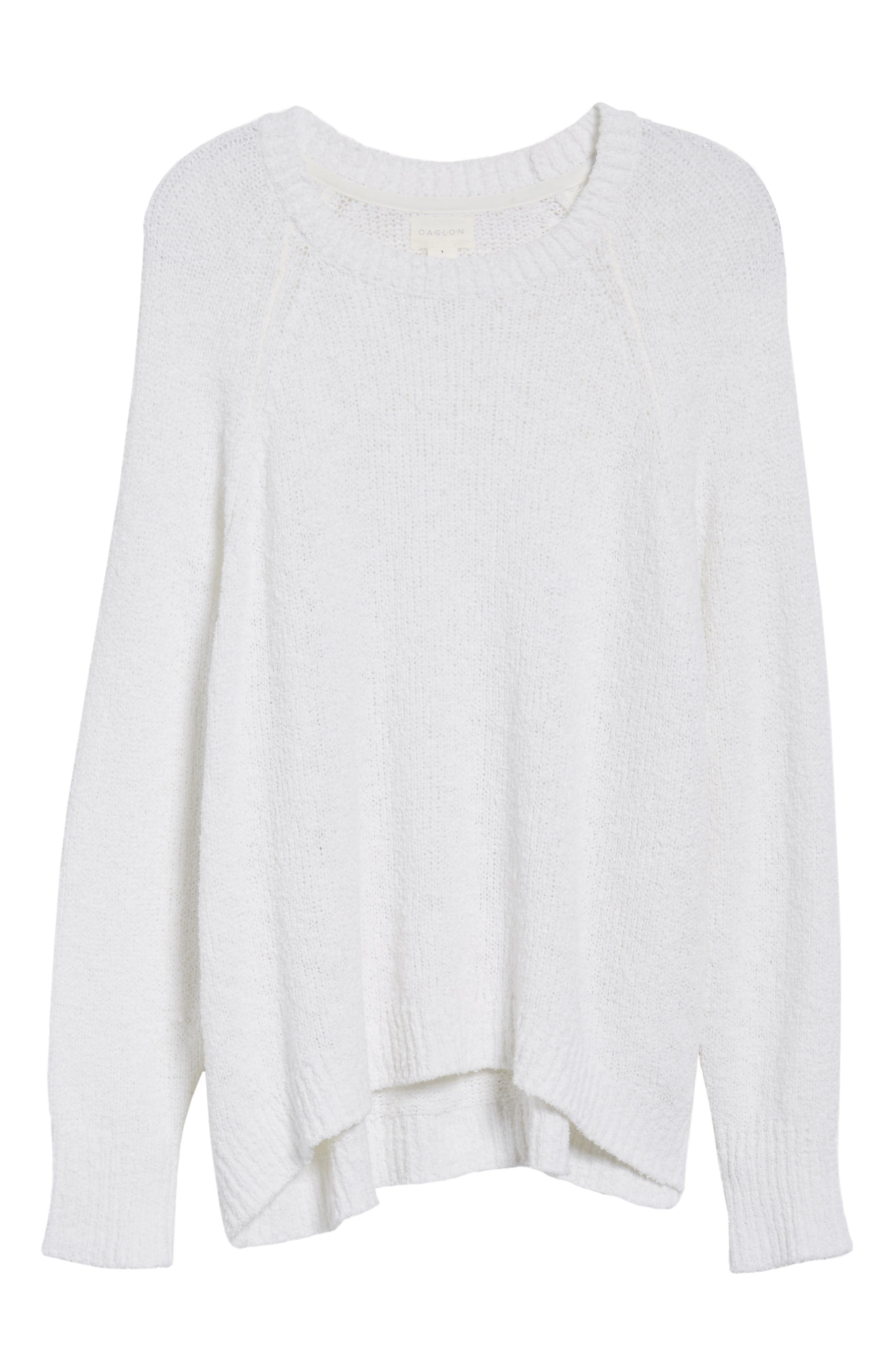 Relaxed Crewneck Sweater,                             Alternate thumbnail 6, color,                             100